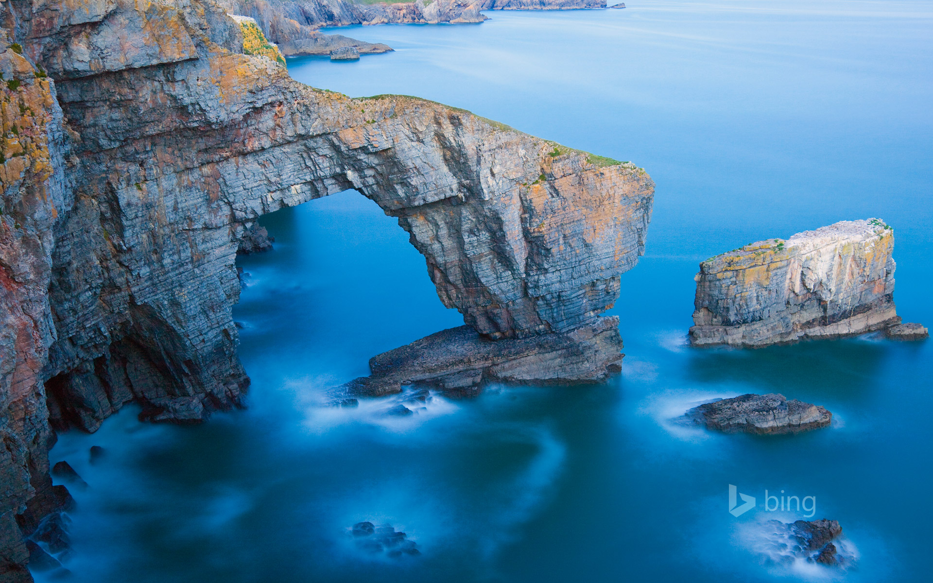 Green Bridge of Wales in Pembrokeshire Coast National Park, Wales