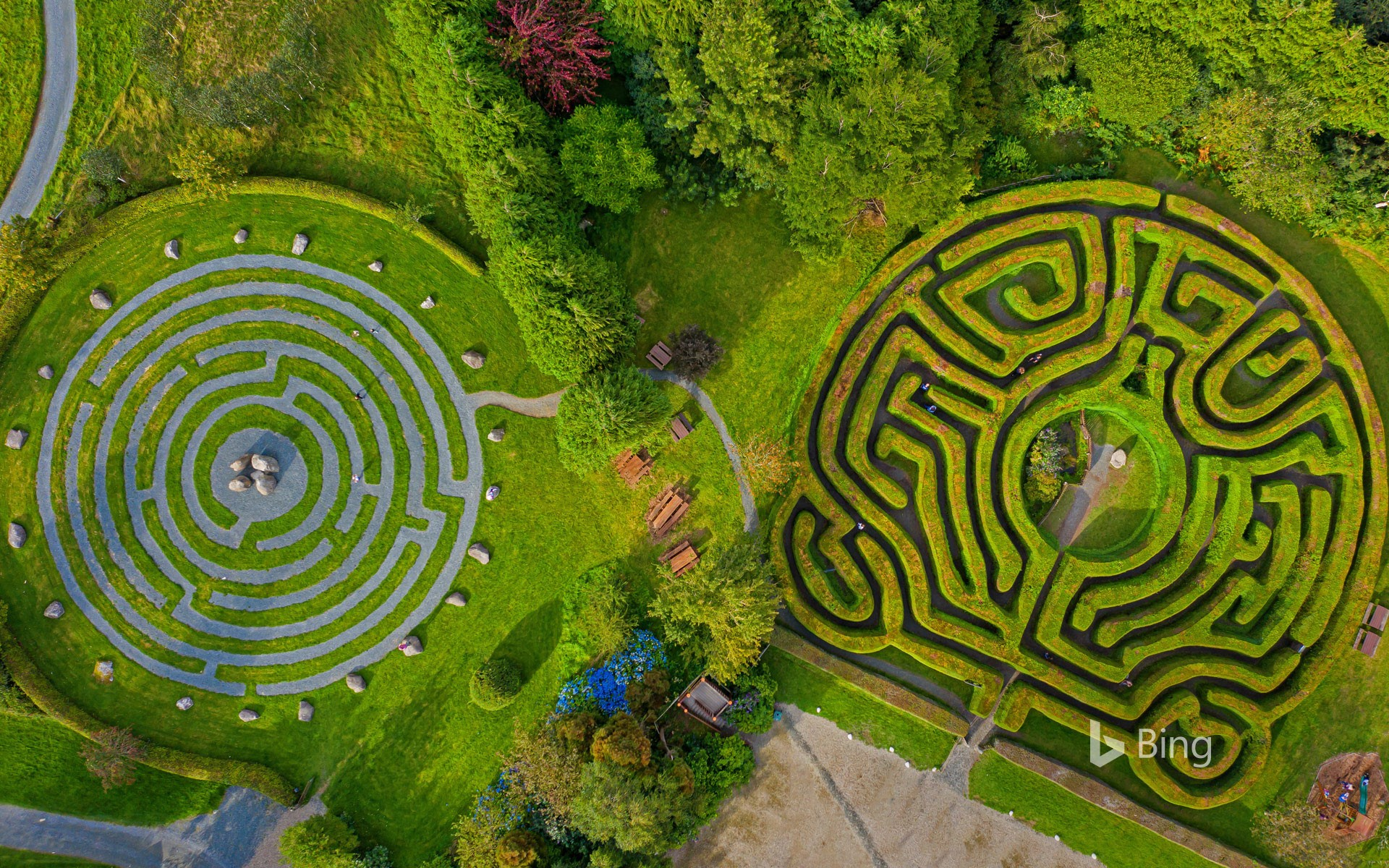 Greenan Maze in County Wicklow, Ireland