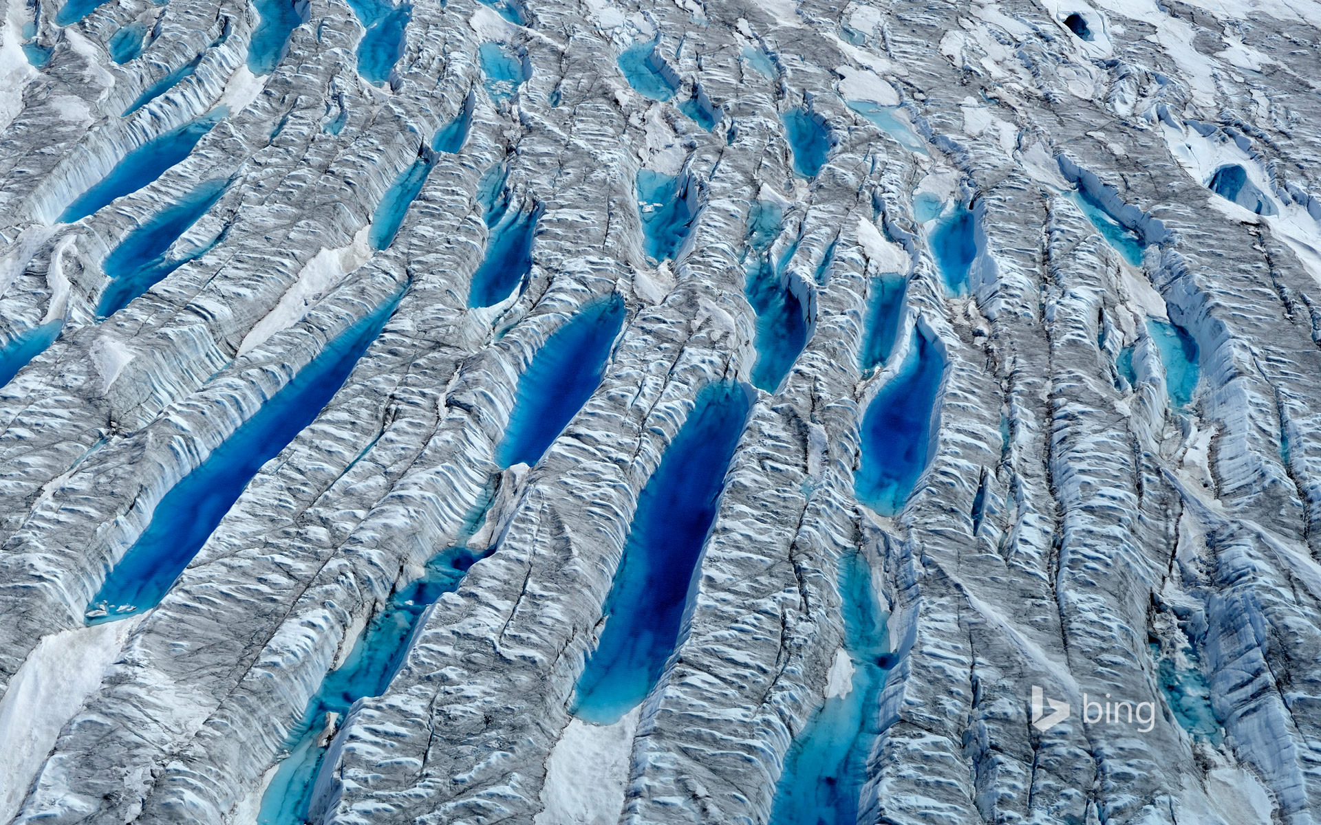 Meltwater on the Greenland ice sheet, Greenland