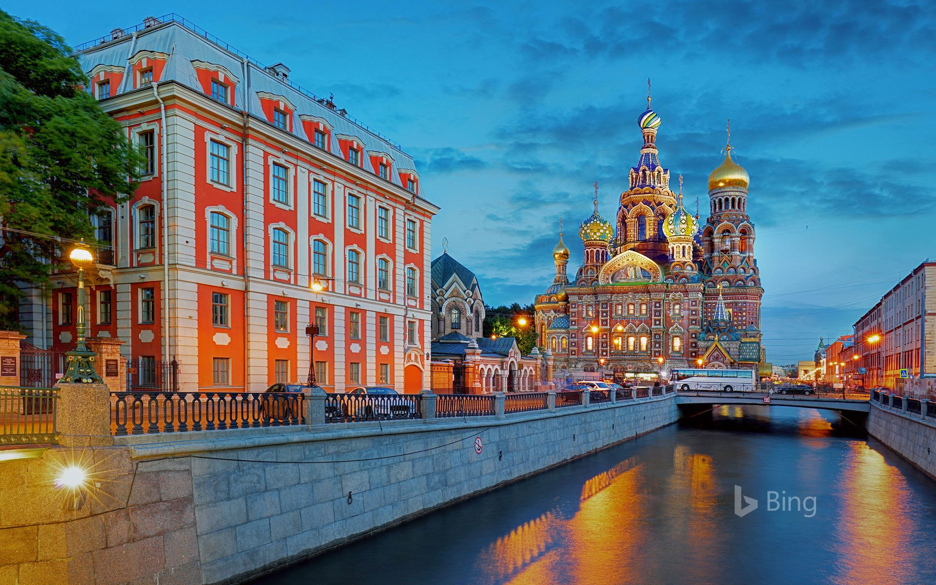 Griboyedov Canal and the Church of the Savior on Spilled Blood in Saint Petersburg, Russia