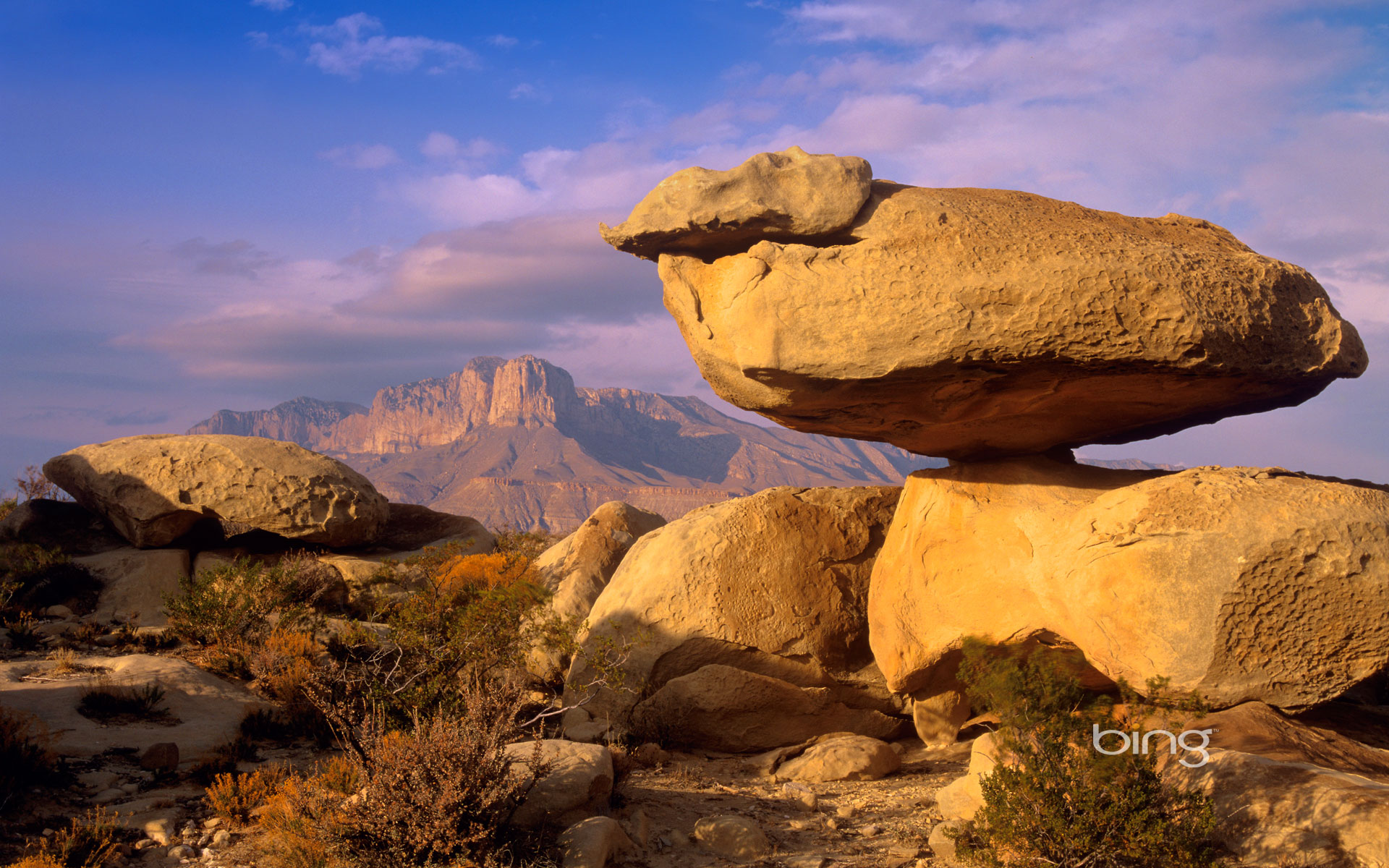 Balanced Rocks In Guadalupe Mountains National Park Texas - Texas national parks