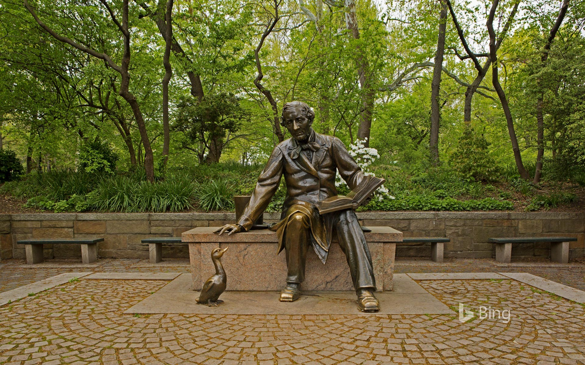 Statue of Hans Christian Andersen in New York City's Central Park