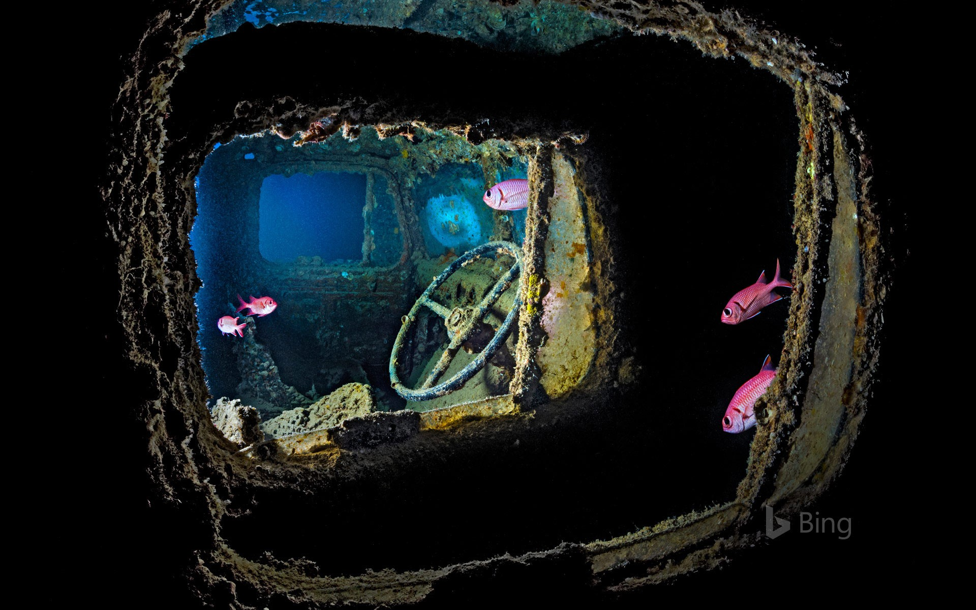 Wreckage of the SS Thistlegorm in the Red Sea