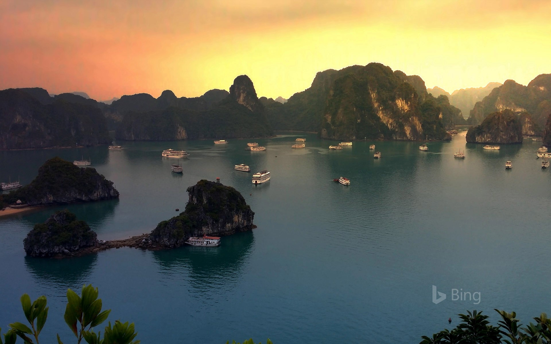 Sunset on Hạ Long Bay, Vietnam
