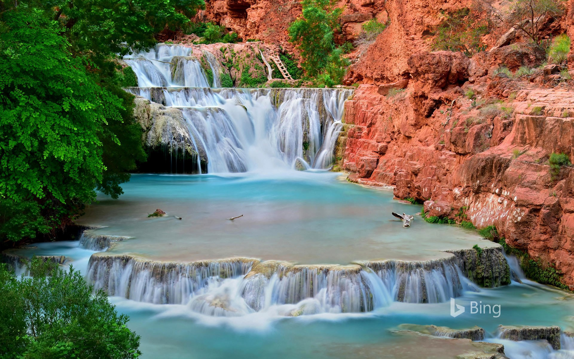 Beaver Falls on Havasu Creek in the Grand Canyon, Arizona, USA