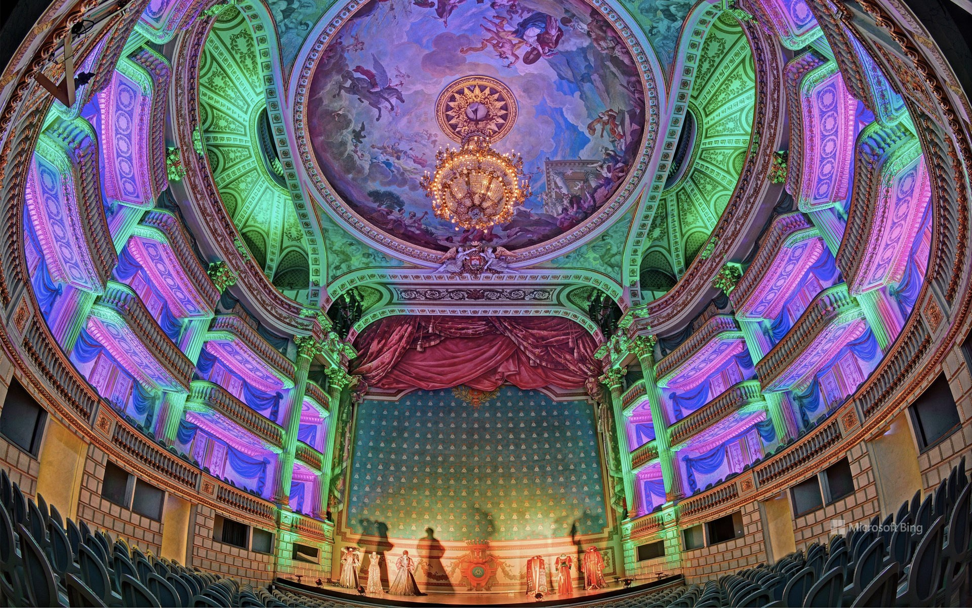 France, Gironde (33), Bordeaux, area listed as World Heritage by UNESCO, the Grand Theater