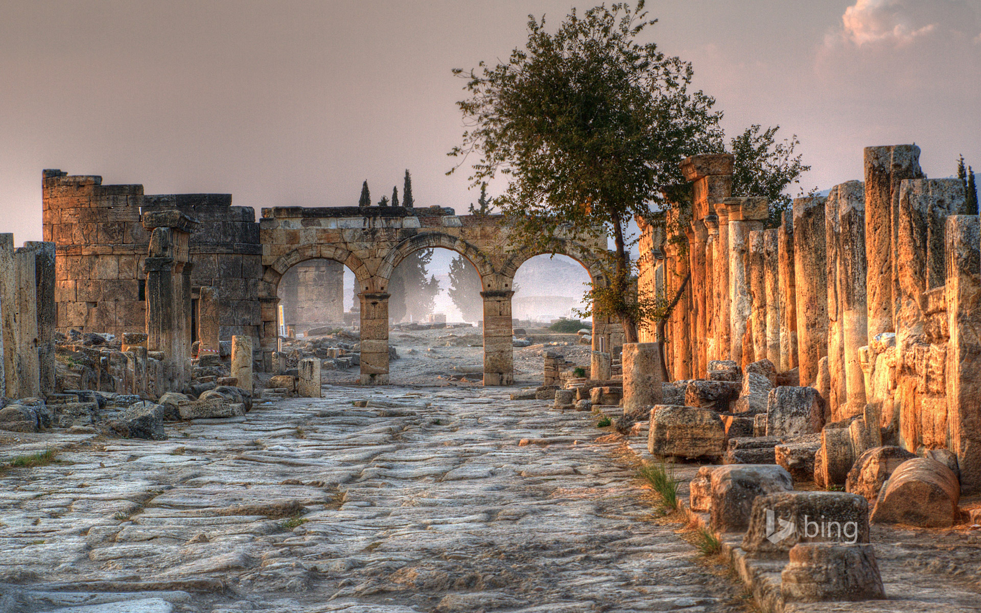 Ancient city of Hierapolis, adjacent to Pamukkale, Turkey