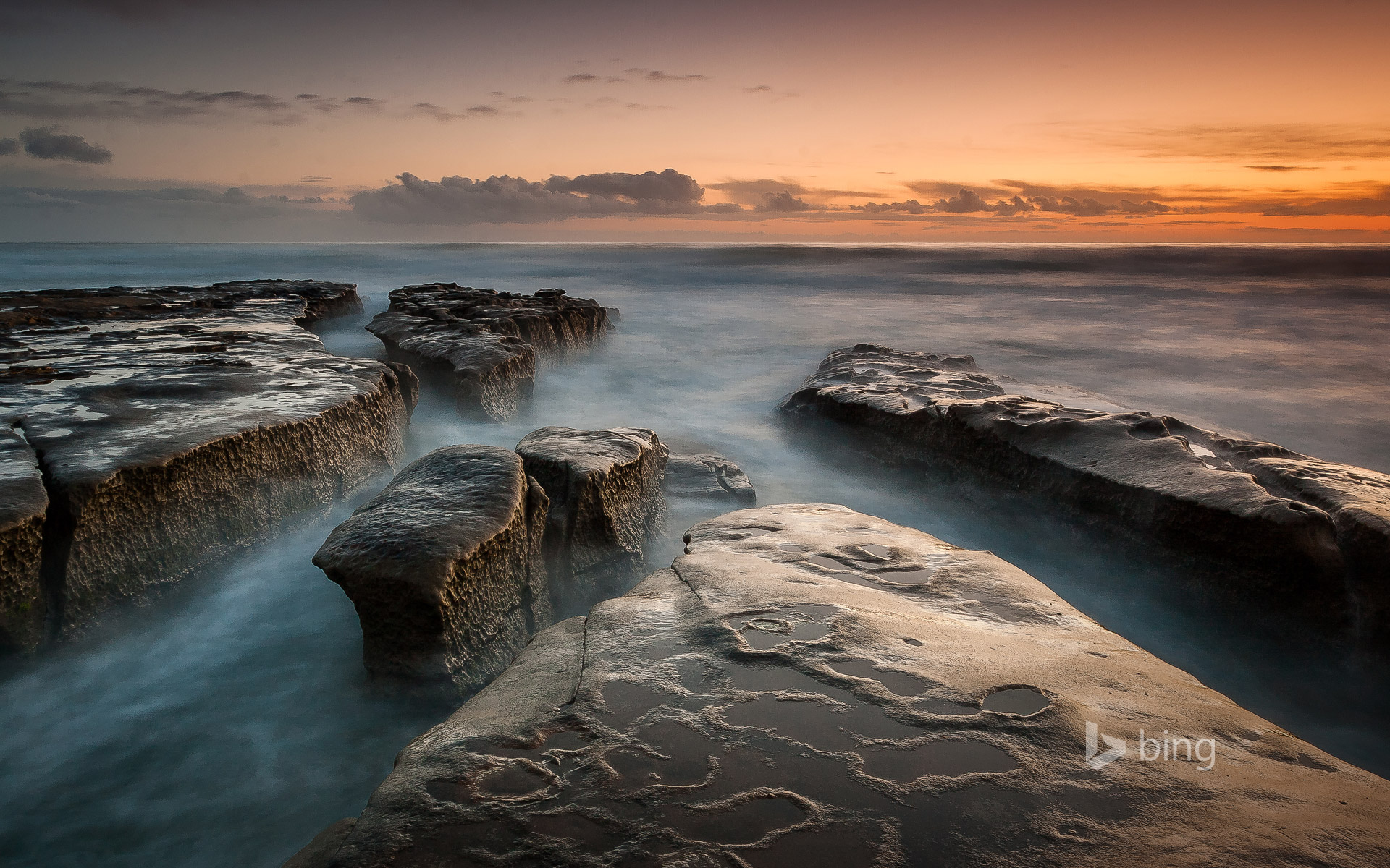 Low tide in La Jolla, San Diego, California