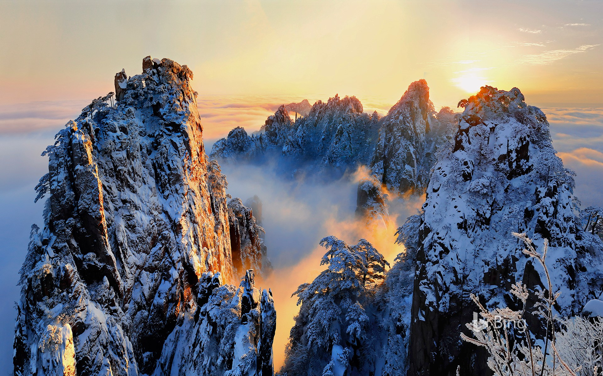 [Heavy Snow Today] Huangshan Scenic Area, Anhui Province