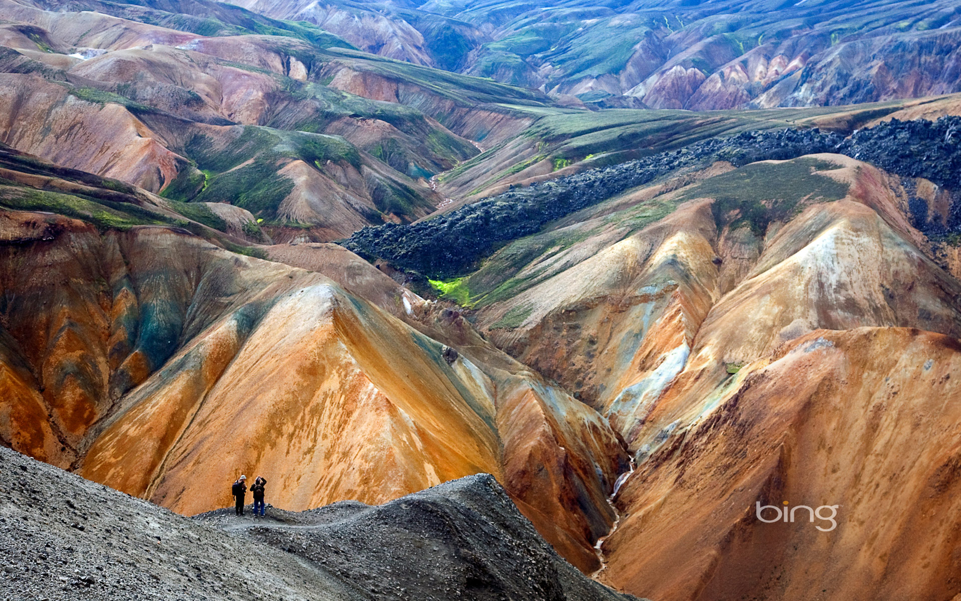 Colorful rhyolite peaks in the Landmannalaugar region of Iceland