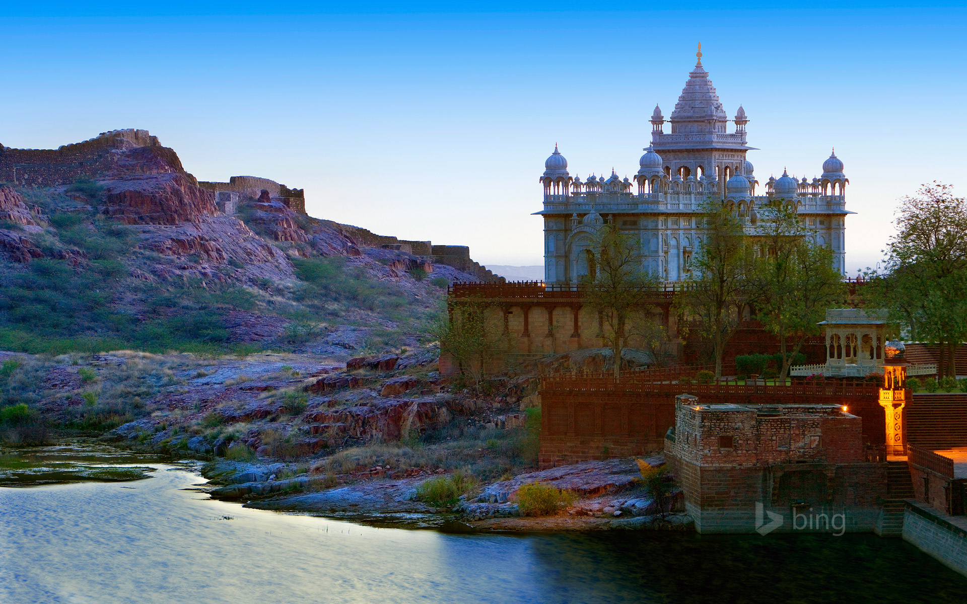 Jaswant Thada in Jodhpur, India