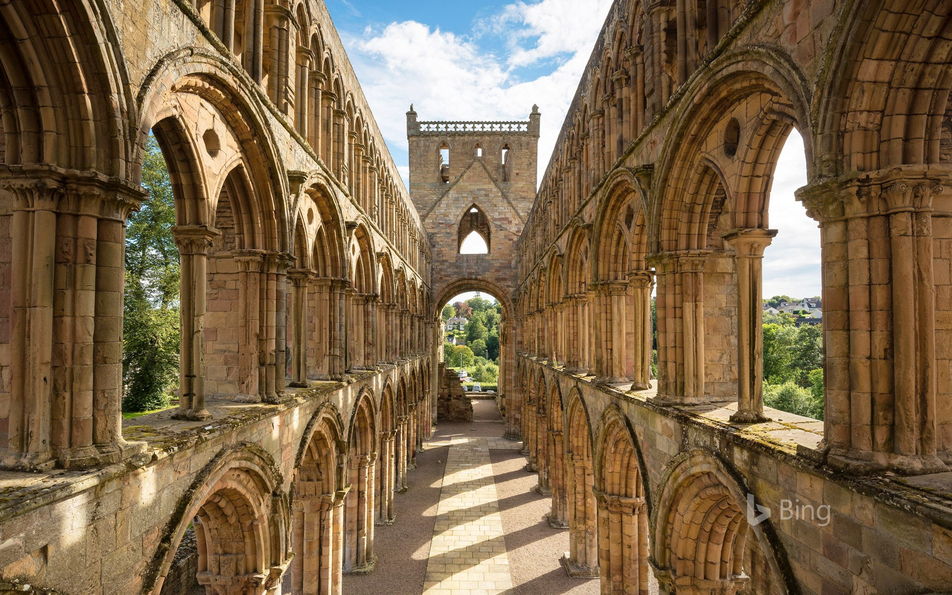 Jedburgh Abbey in the Scottish Borders