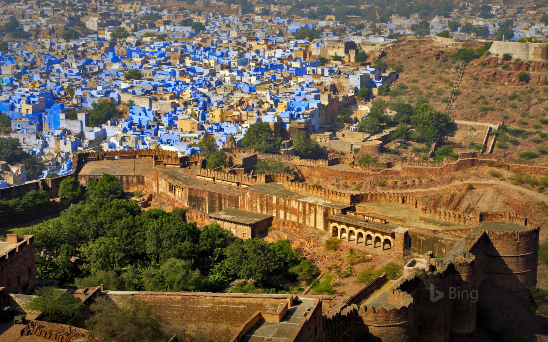 View of the blue city, Jodhpur, from Mehrangarh Fort, Rajasthan, India