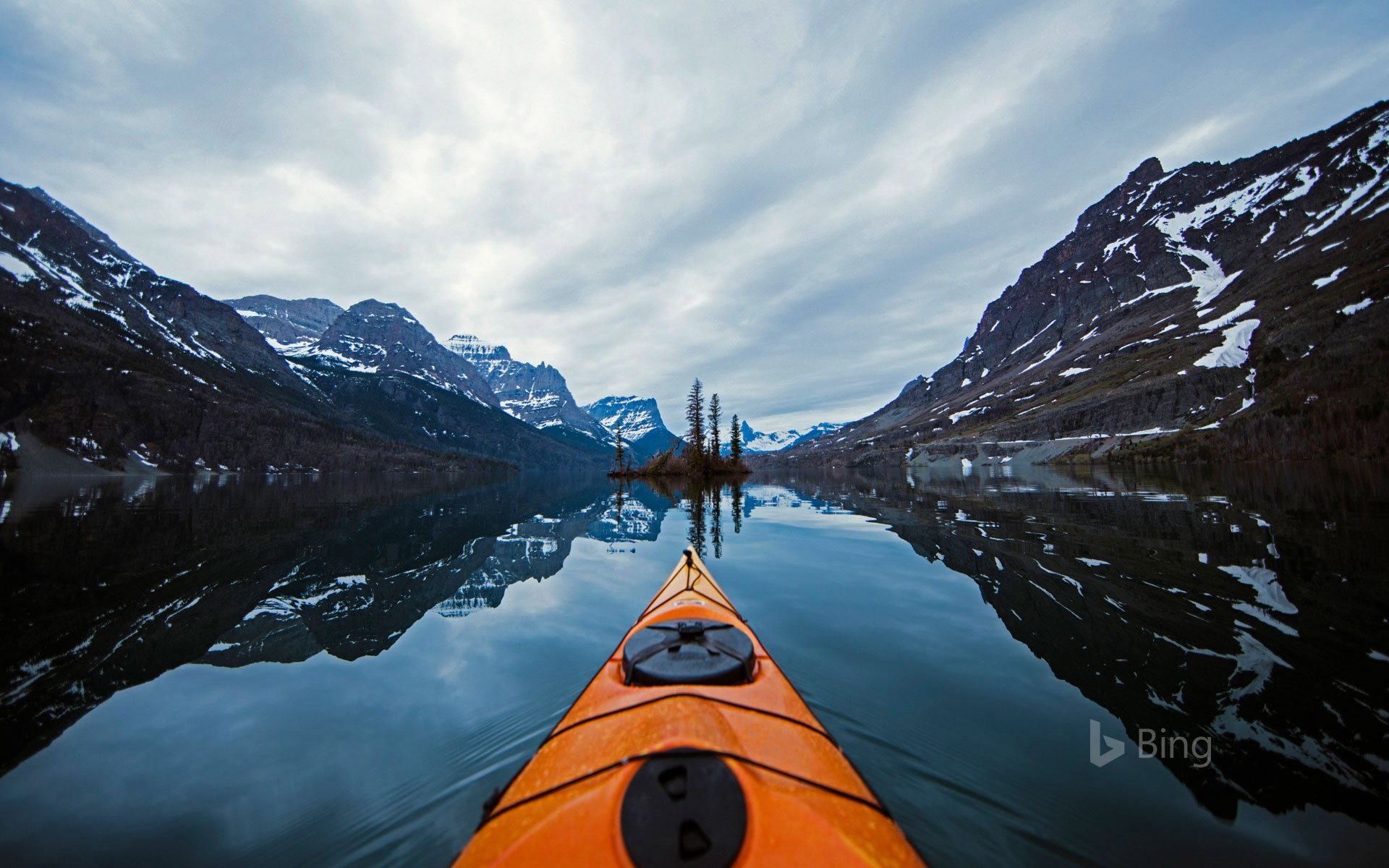 Kayaking in Glacier National Park, Montana