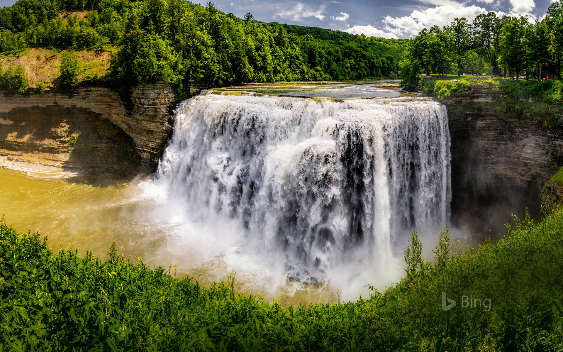 Middle Falls at Letchworth State Park, New York