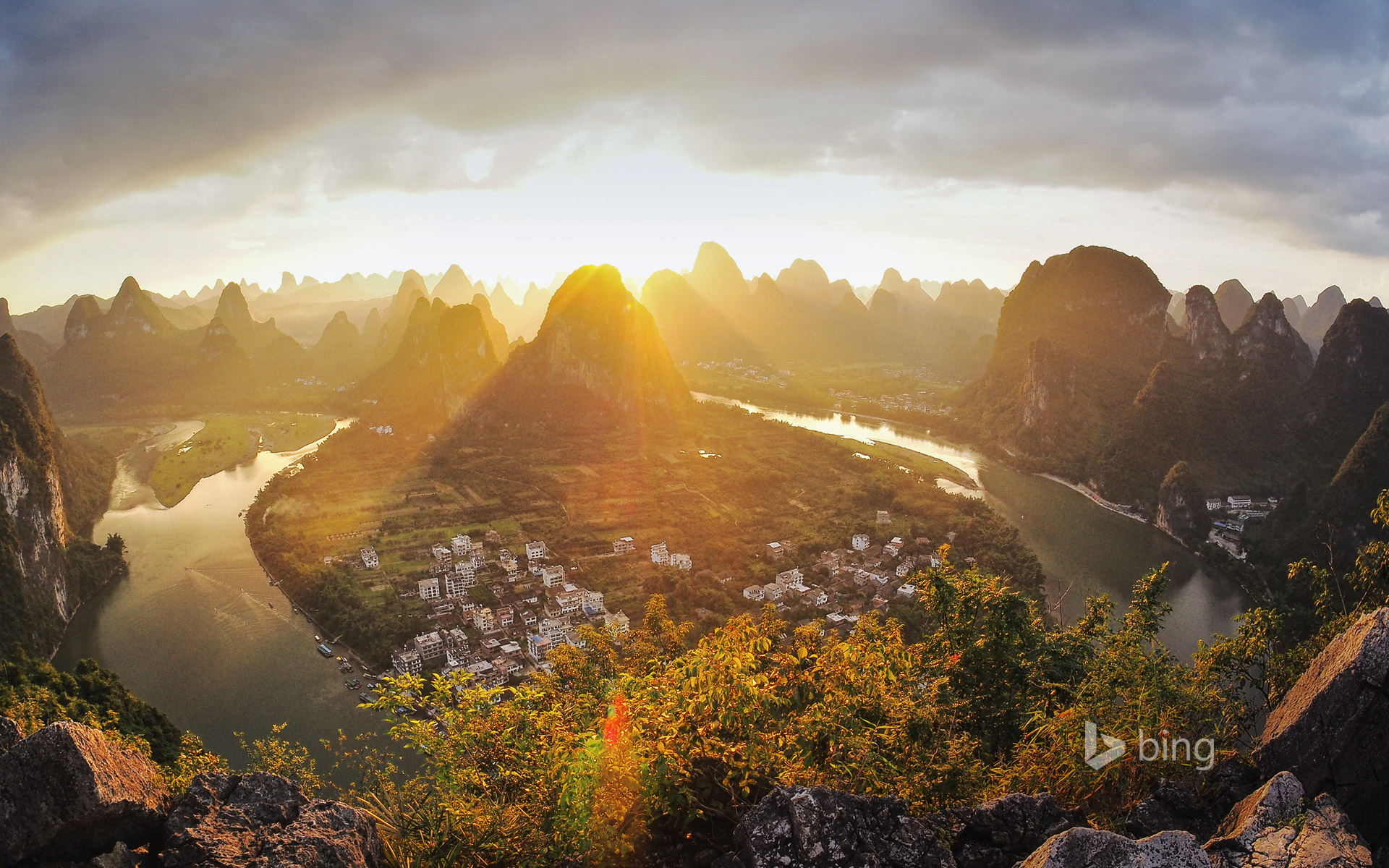 Xingping on the Li River in Guangxi, China