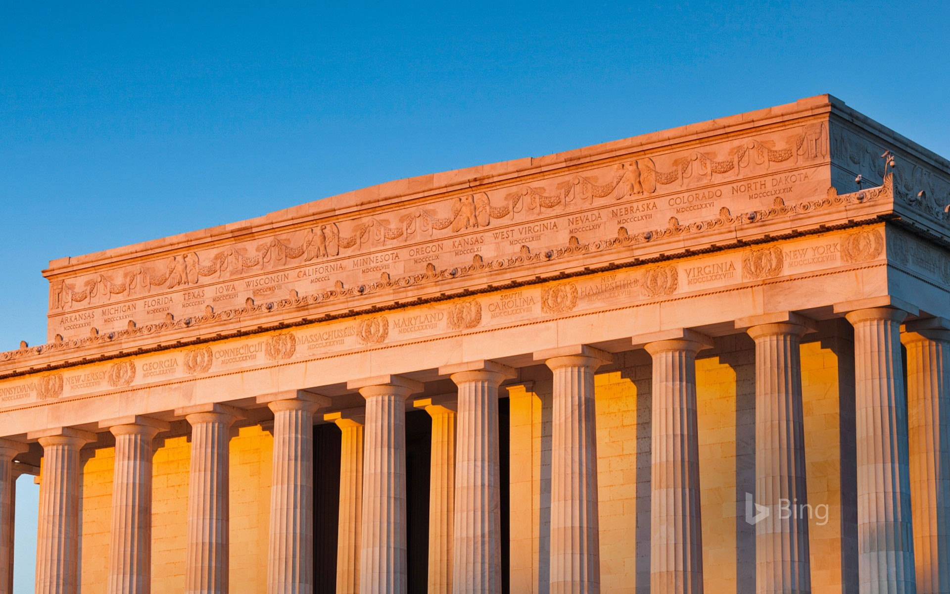 Detail of the Lincoln Memorial, Washington, DC