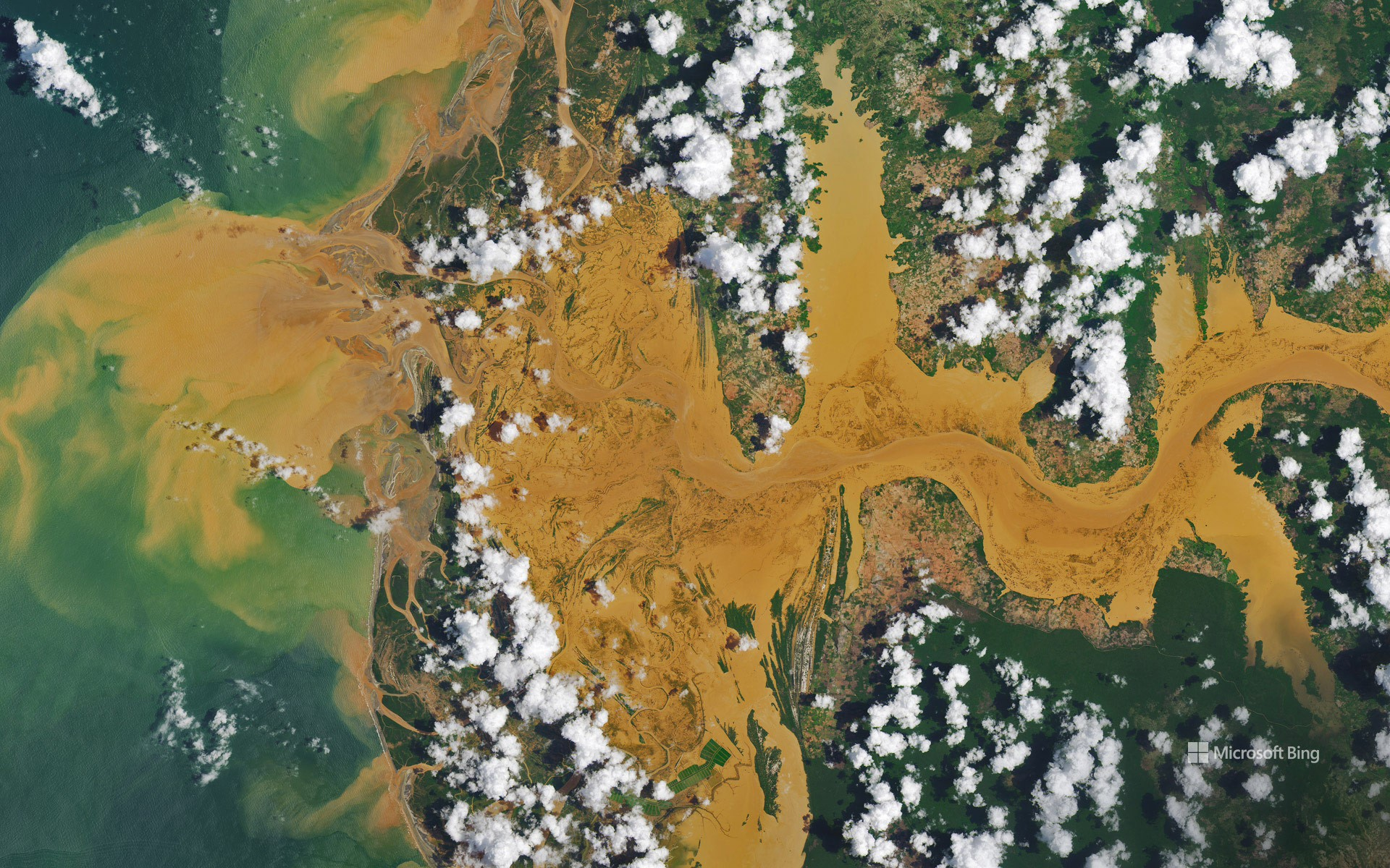 Satellite image of the Mania River in Madagascar
