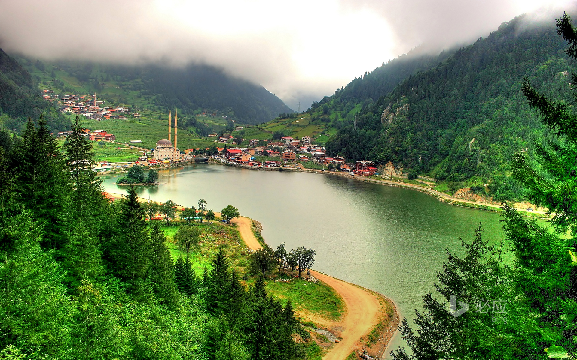 Lake Uzon (Long Lake), Trabzon, Turkey