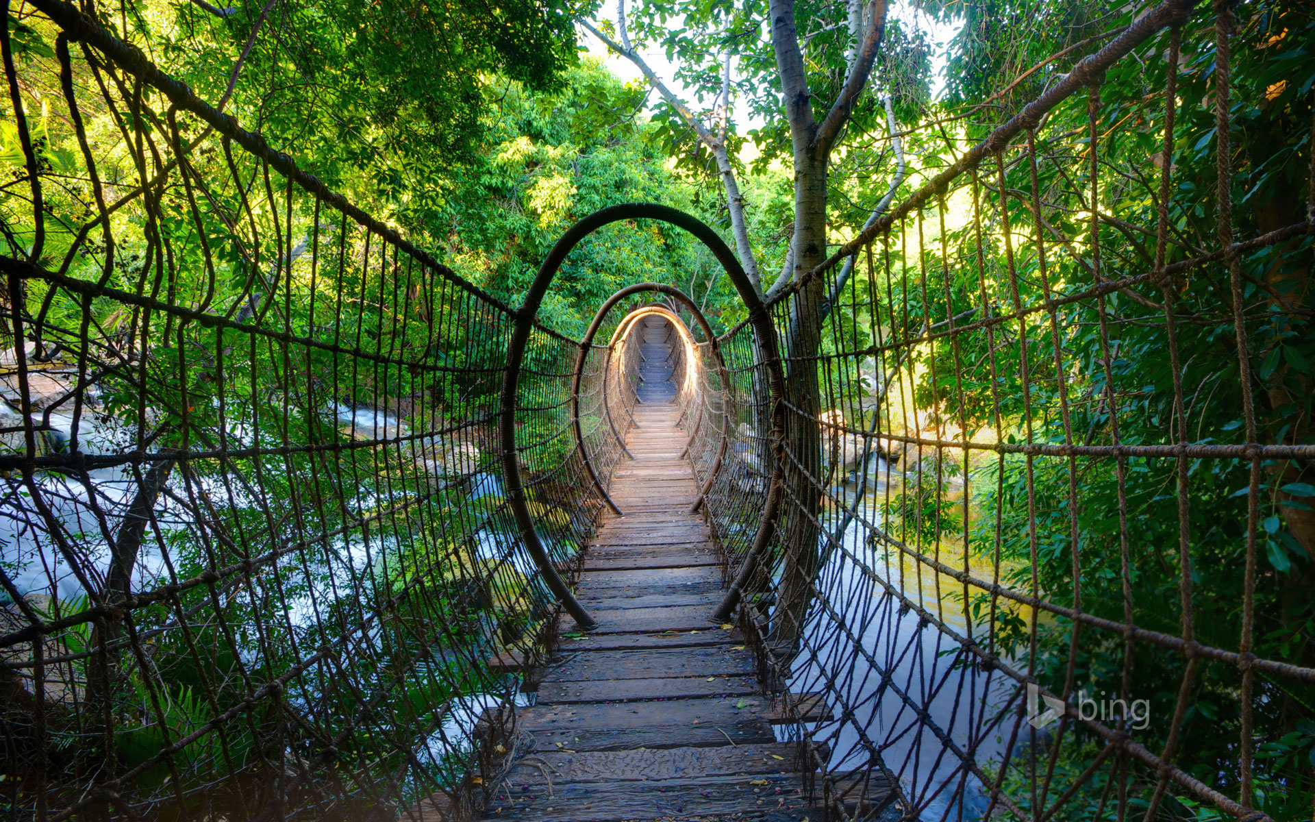 Sway bridge at The Palace of the Lost City, North West Province, South Africa