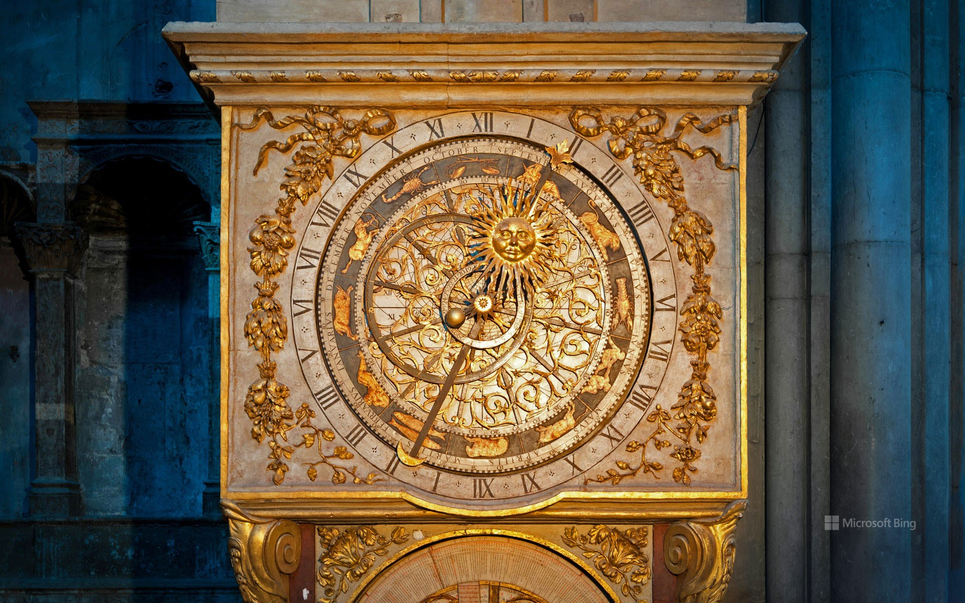 Lyon astronomical clock, Lyon, France
