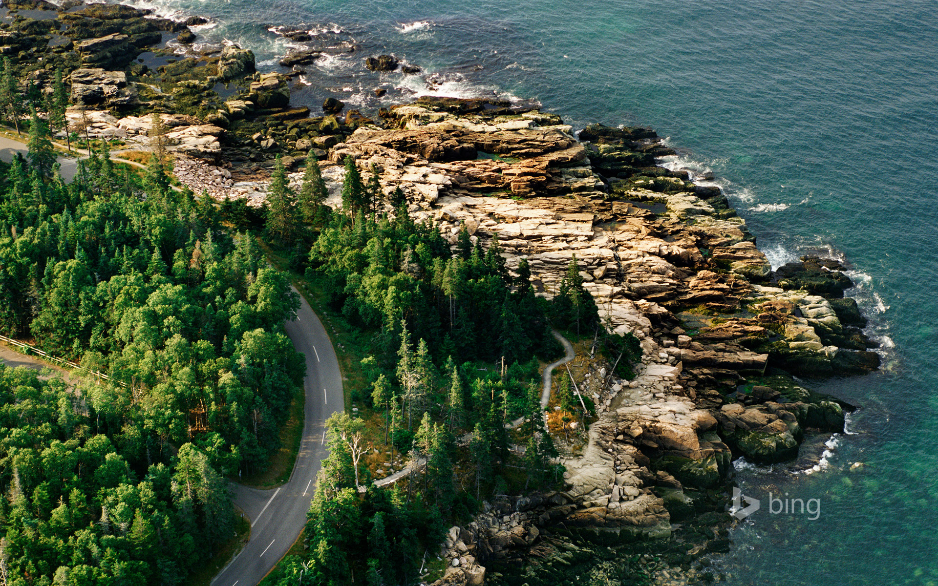 Coastline of Acadia National Park, Maine