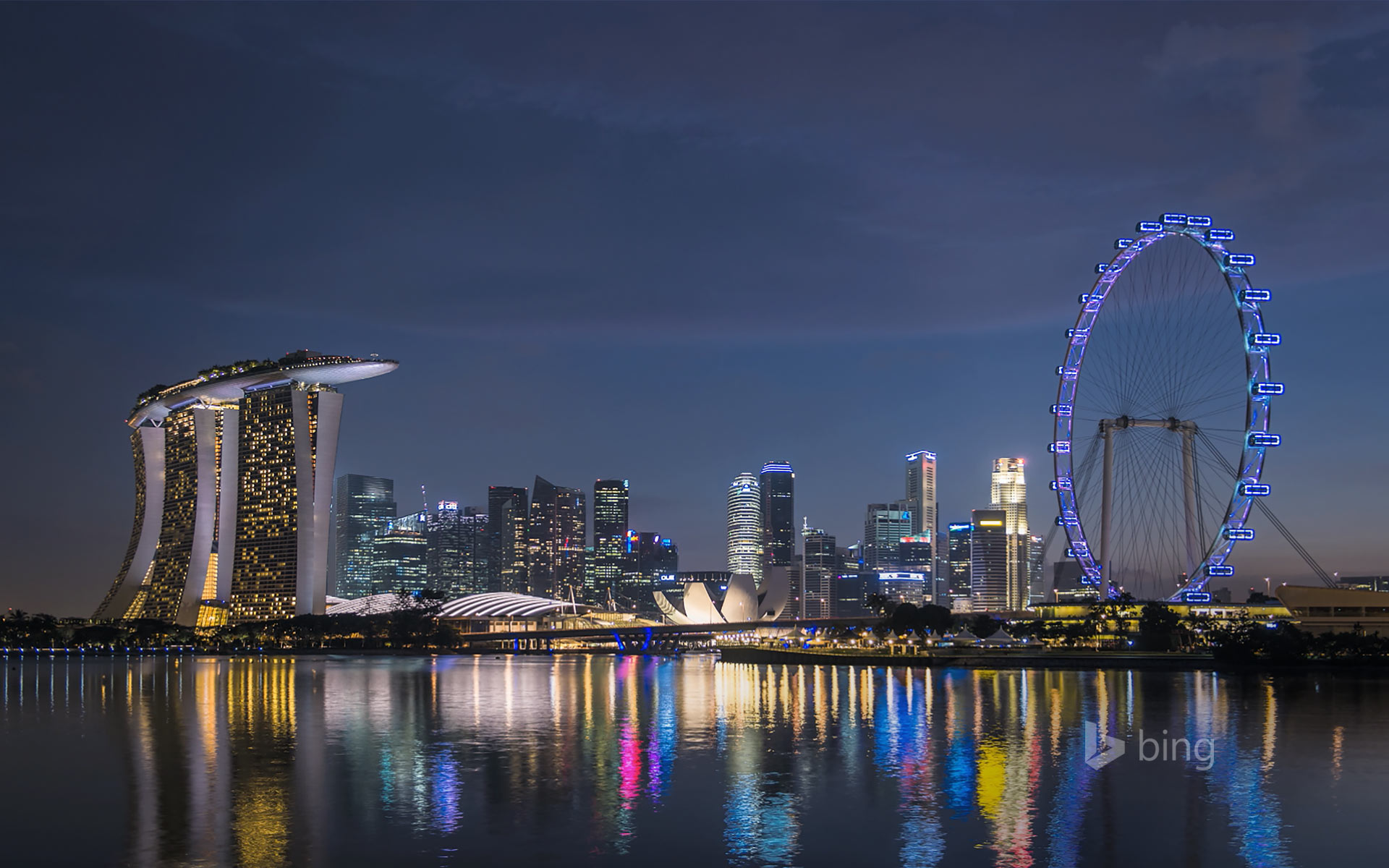 Marina Bay skyline in Singapore