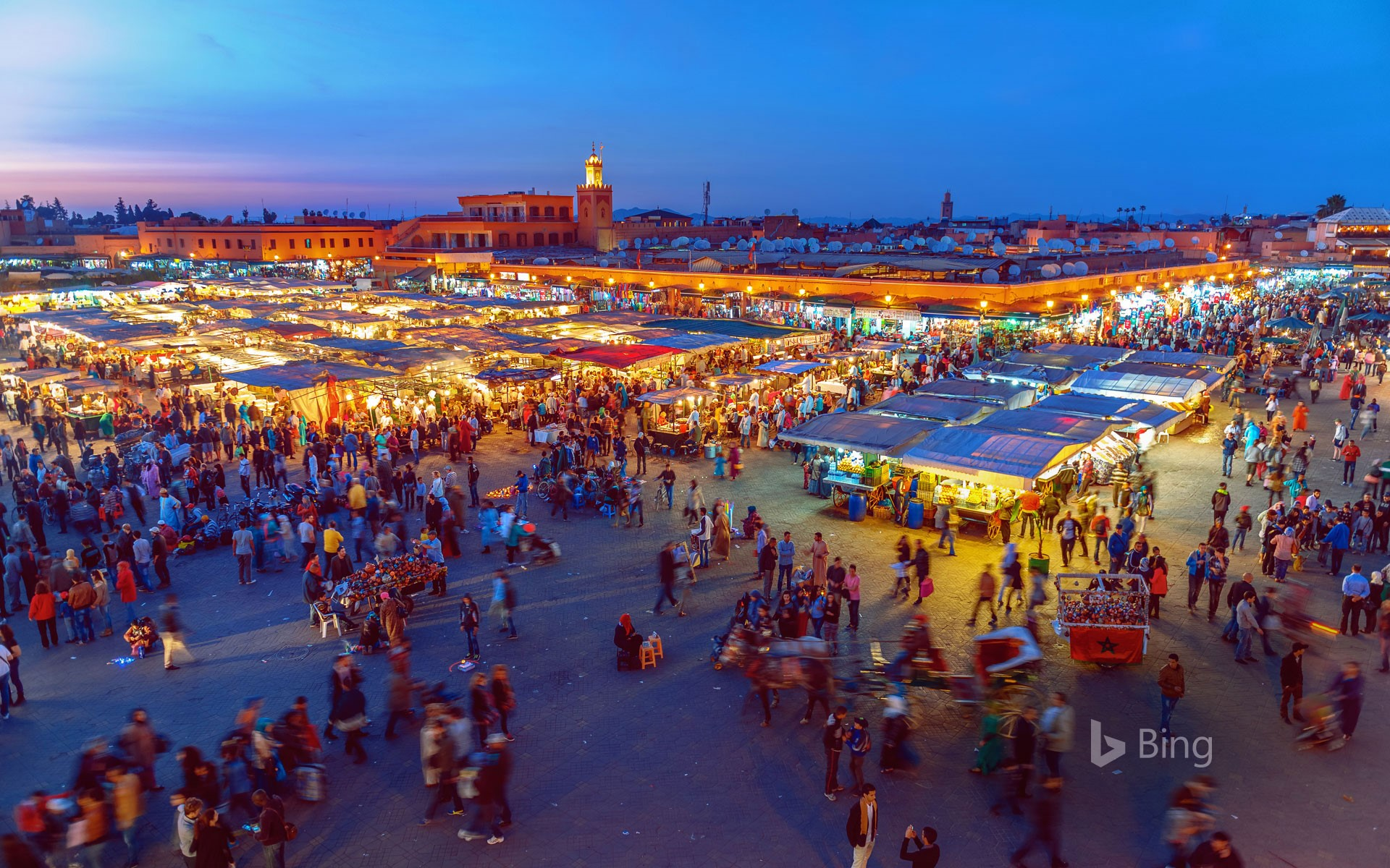 Jemaa el-Fnaa Square in Marrakesh, Morocco