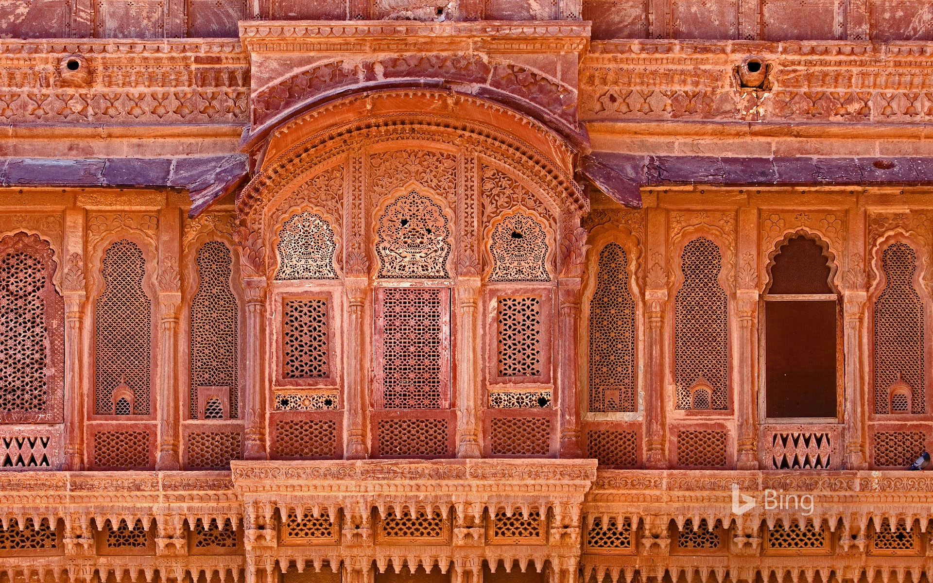 Exterior of Mehrangarh Fort in Jodhpur, India