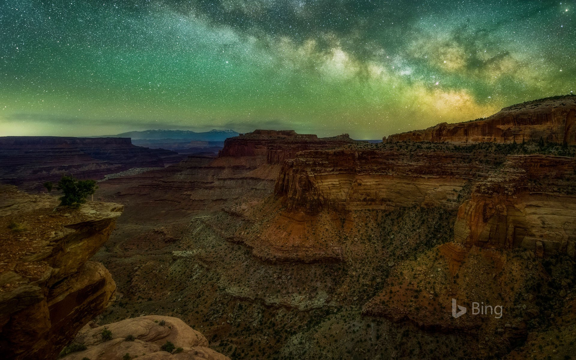 The Milky Way seen from Canyonlands National Park in Utah