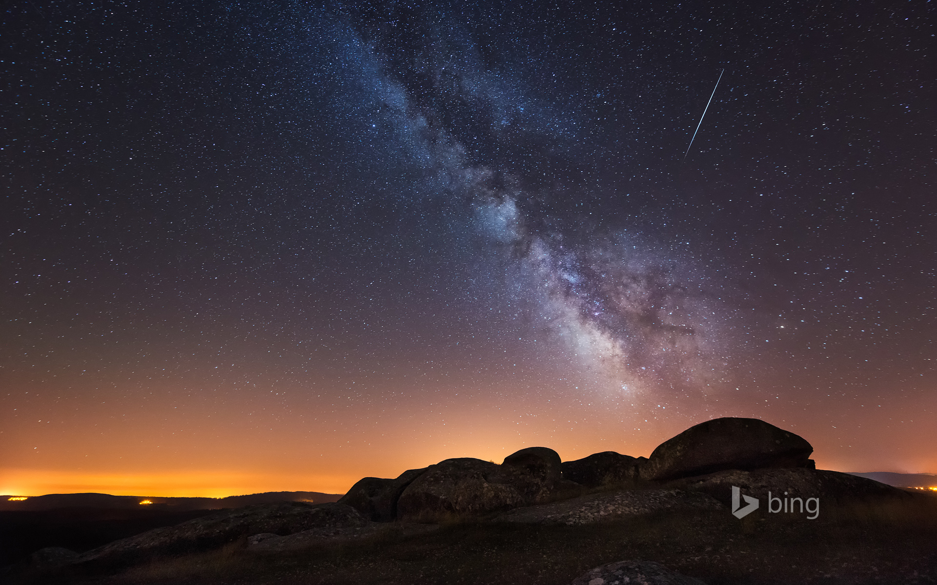 A view of the Milky Way from La Coruña, Spain