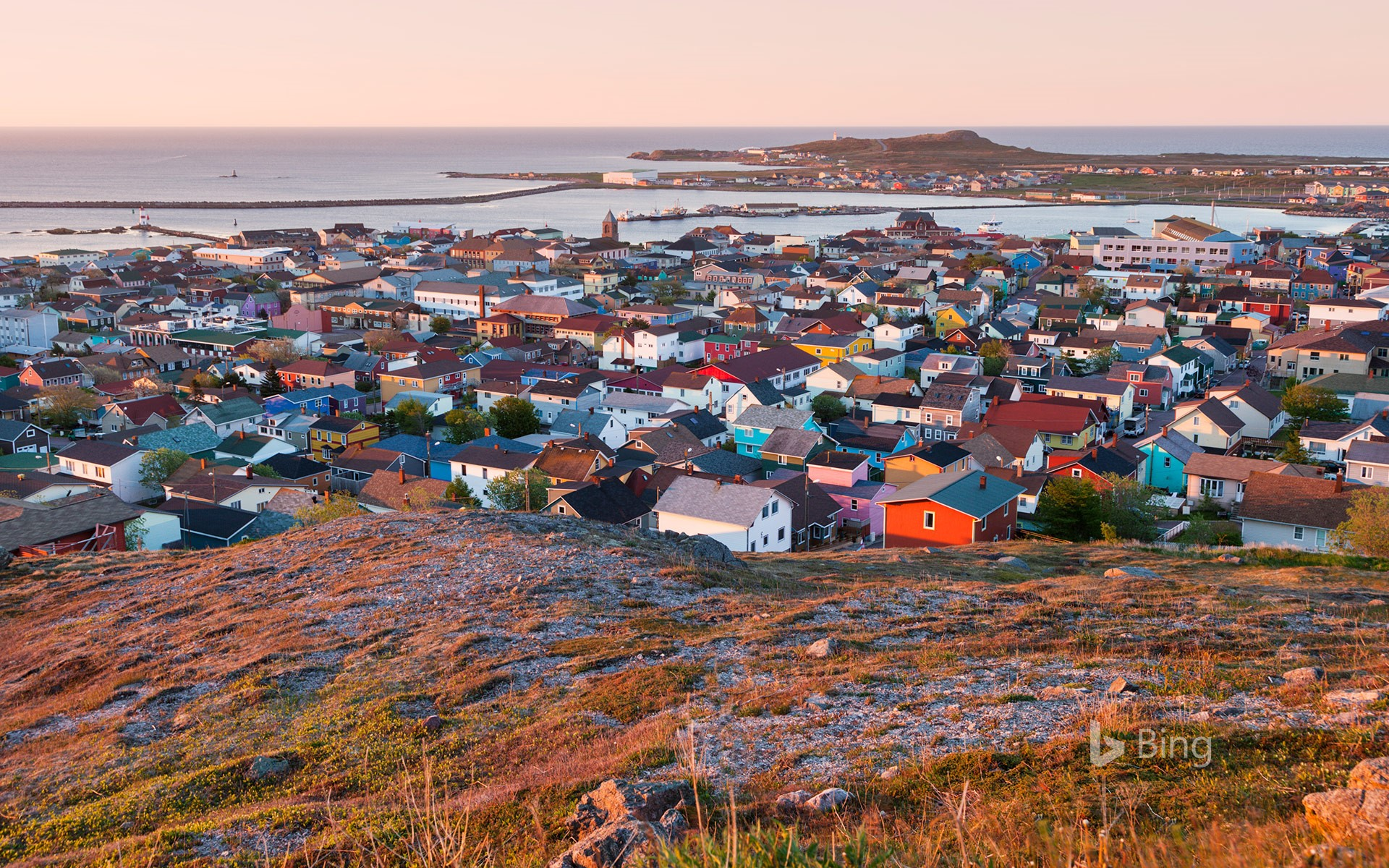 Saint-Pierre at sunrise, Saint Pierre and Miquelon