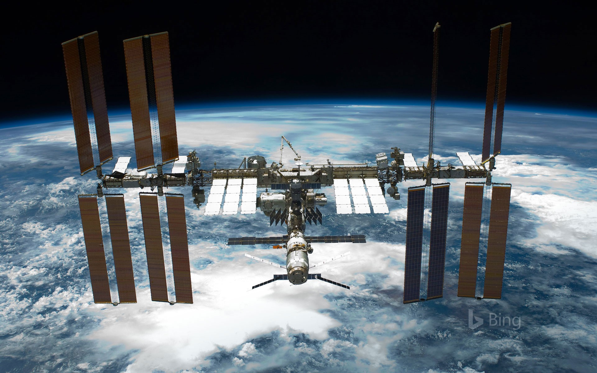 The International Space Station seen from Space Shuttle Endeavour