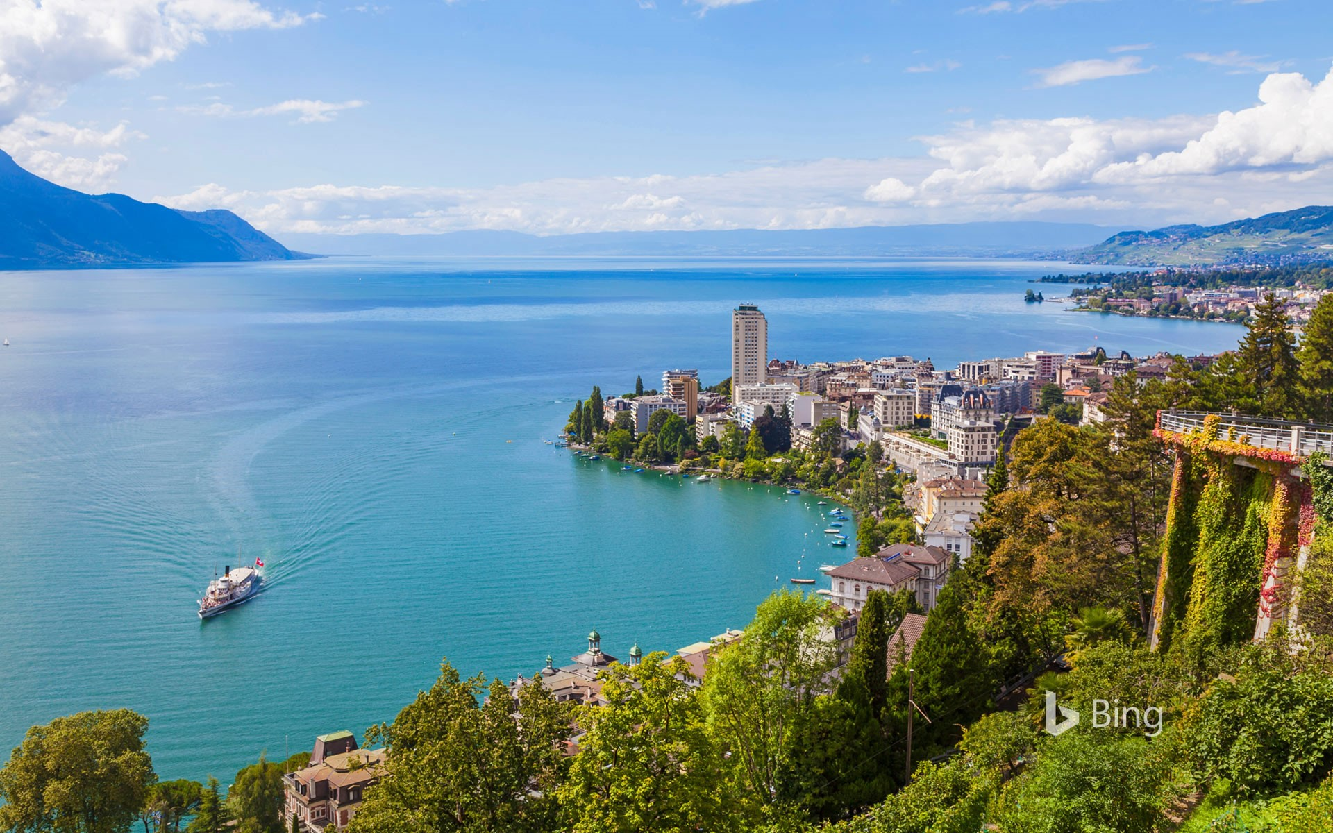 Montreux and Lake Geneva in Switzerland
