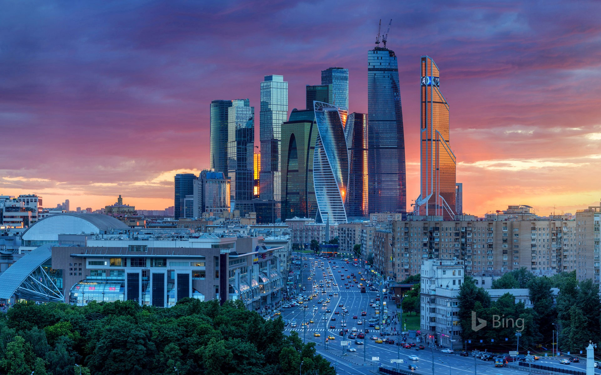 Moscow International Business Centre in Russia