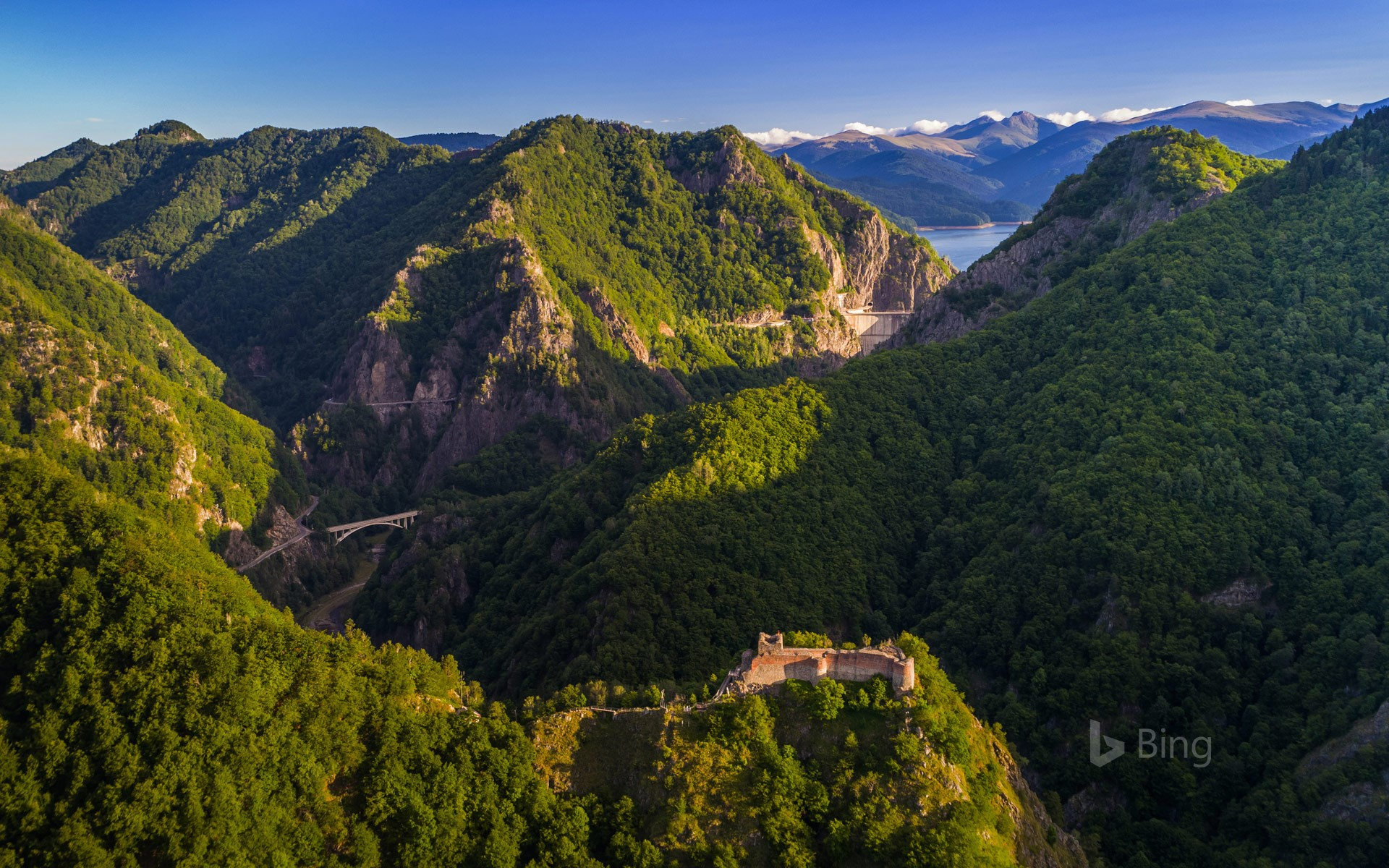 Poenari Castle on Mount Cetatea, Făgăraș Mountains, Romania