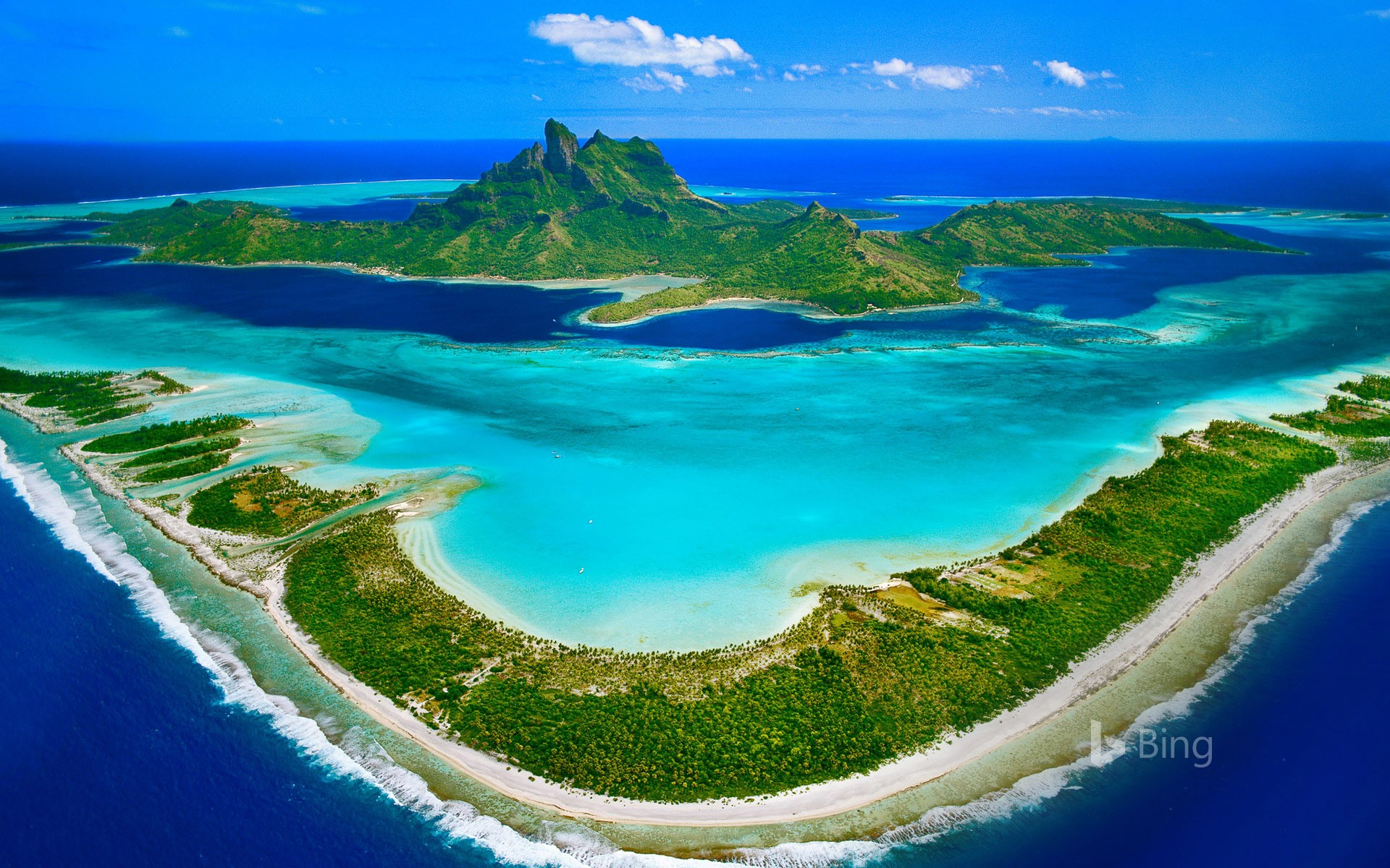 Bora Bora in the Leeward Islands of French Polynesia
