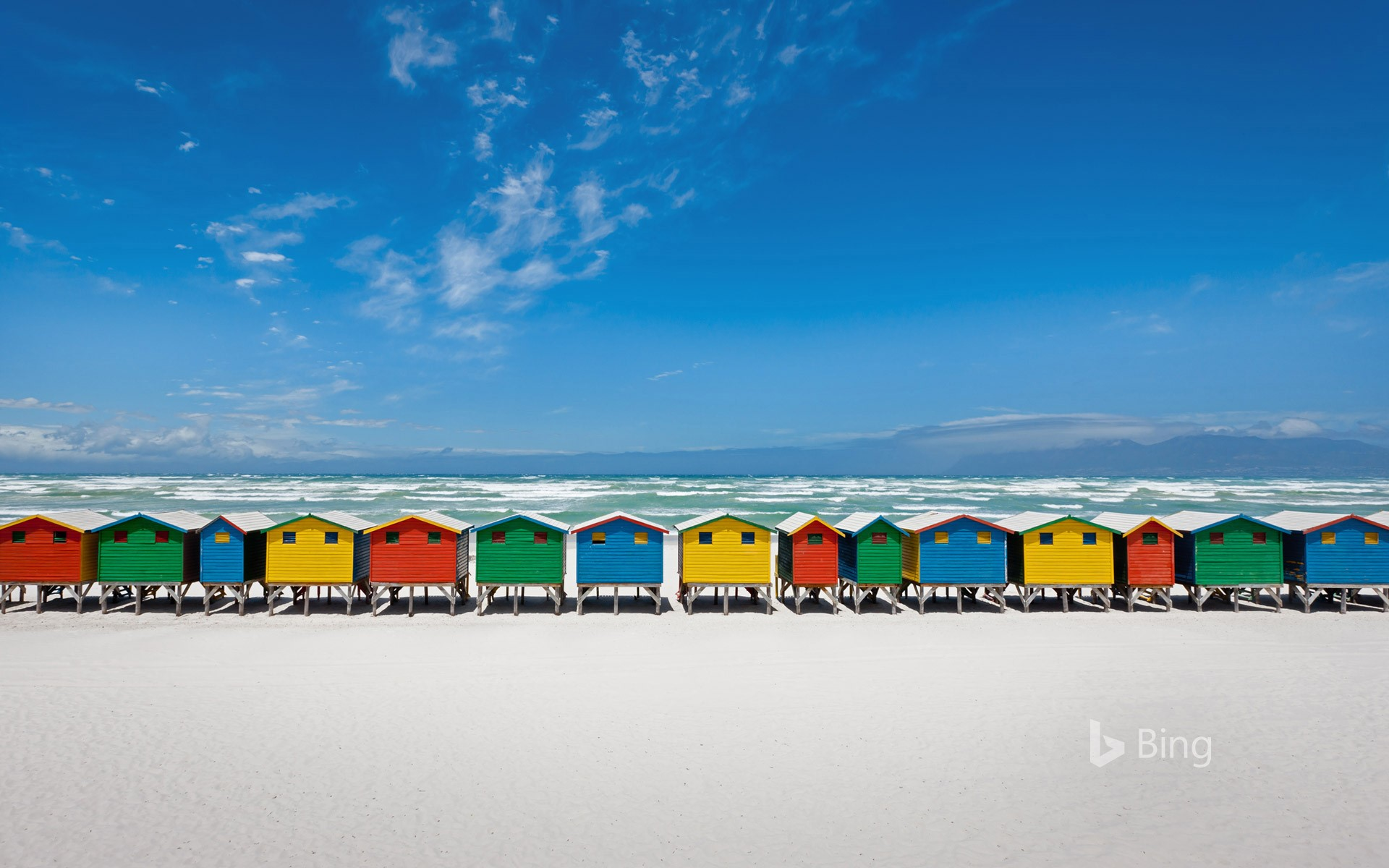 Beach huts in Muizenberg, South Africa