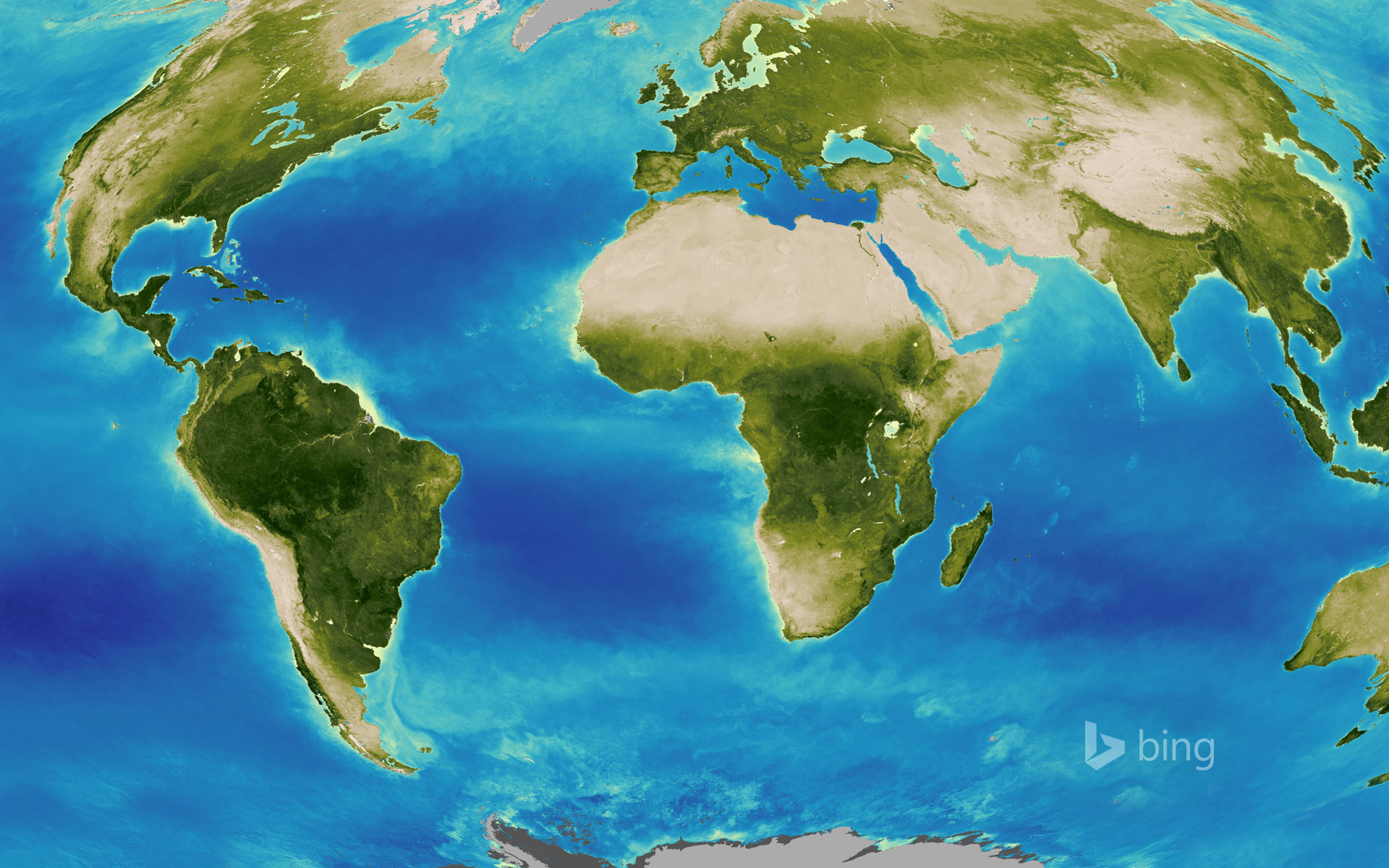 Map of Earth created by the Global Inventory Modeling and Mapping Studies (GIMMS) project at NASA's Goddard Space Flight Center