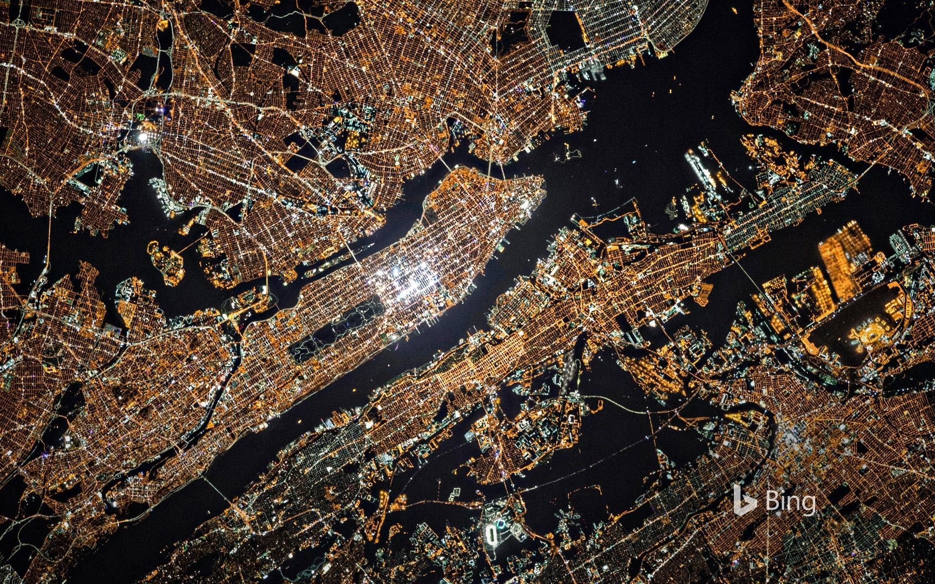 View of New York City from the International Space Station