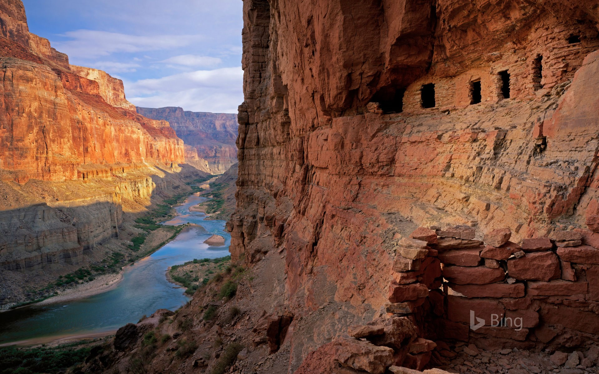 The Nankoweap Granaries of the Grand Canyon in Arizona