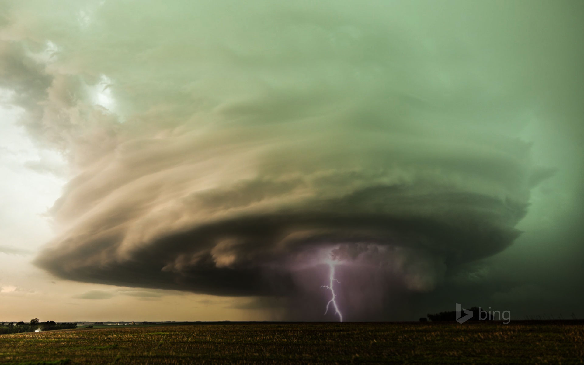 Supercell storm over West Point, Nebraska