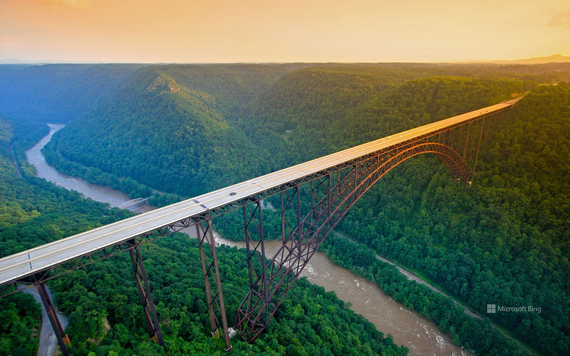 New River Gorge Bridge, New River Gorge National Park and Preserve, West Virginia, USA