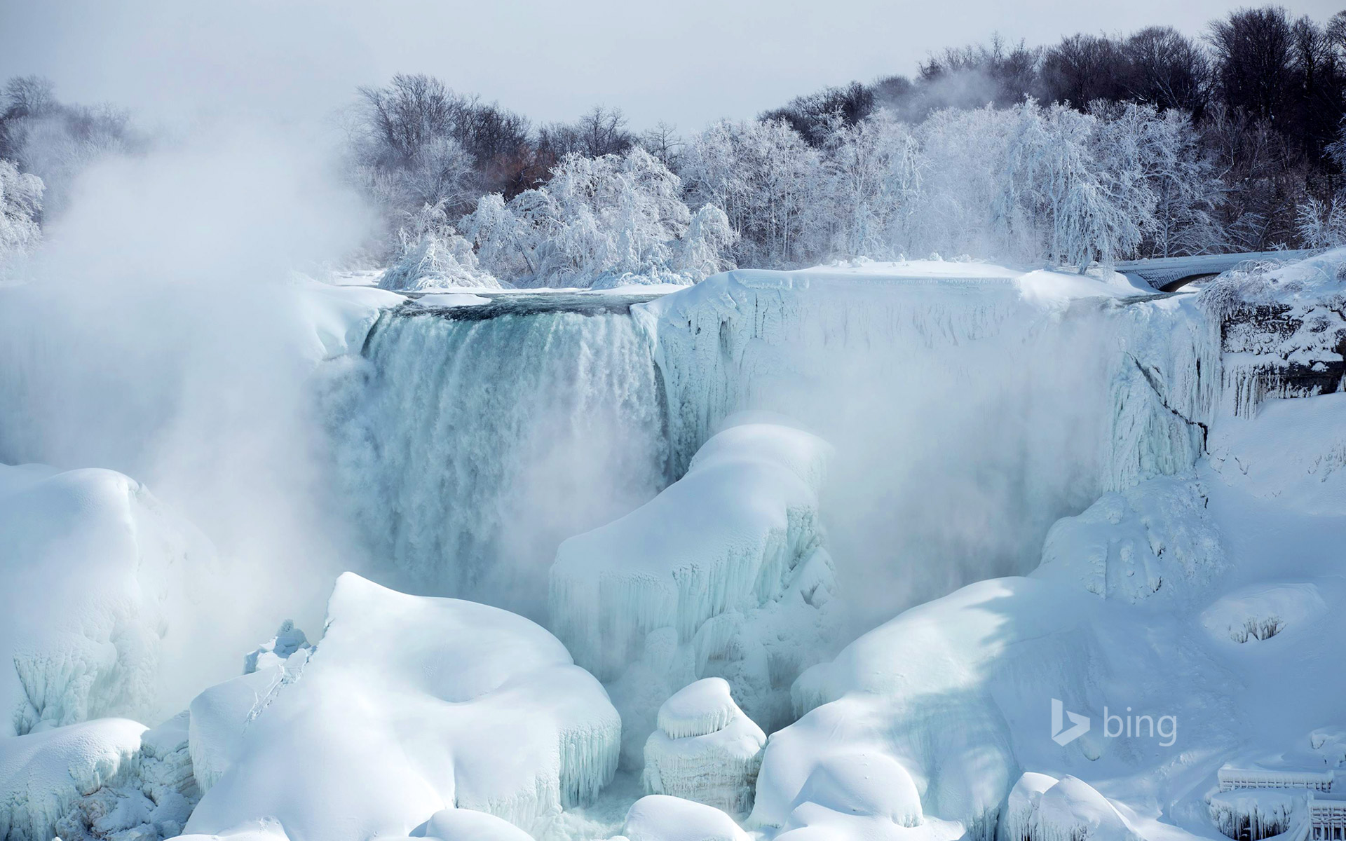 American Falls as seen from Niagara Falls, Ontario, Canada, February 19, 2015