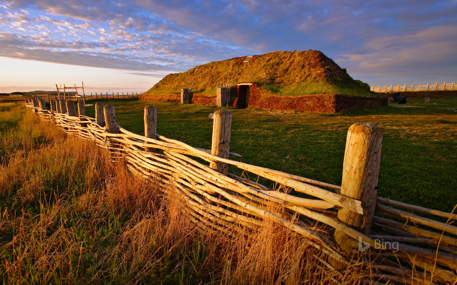For Leif Erikson Day, a Norse building at L'Anse aux Meadows National Historic Site in Newfoundland, Canada