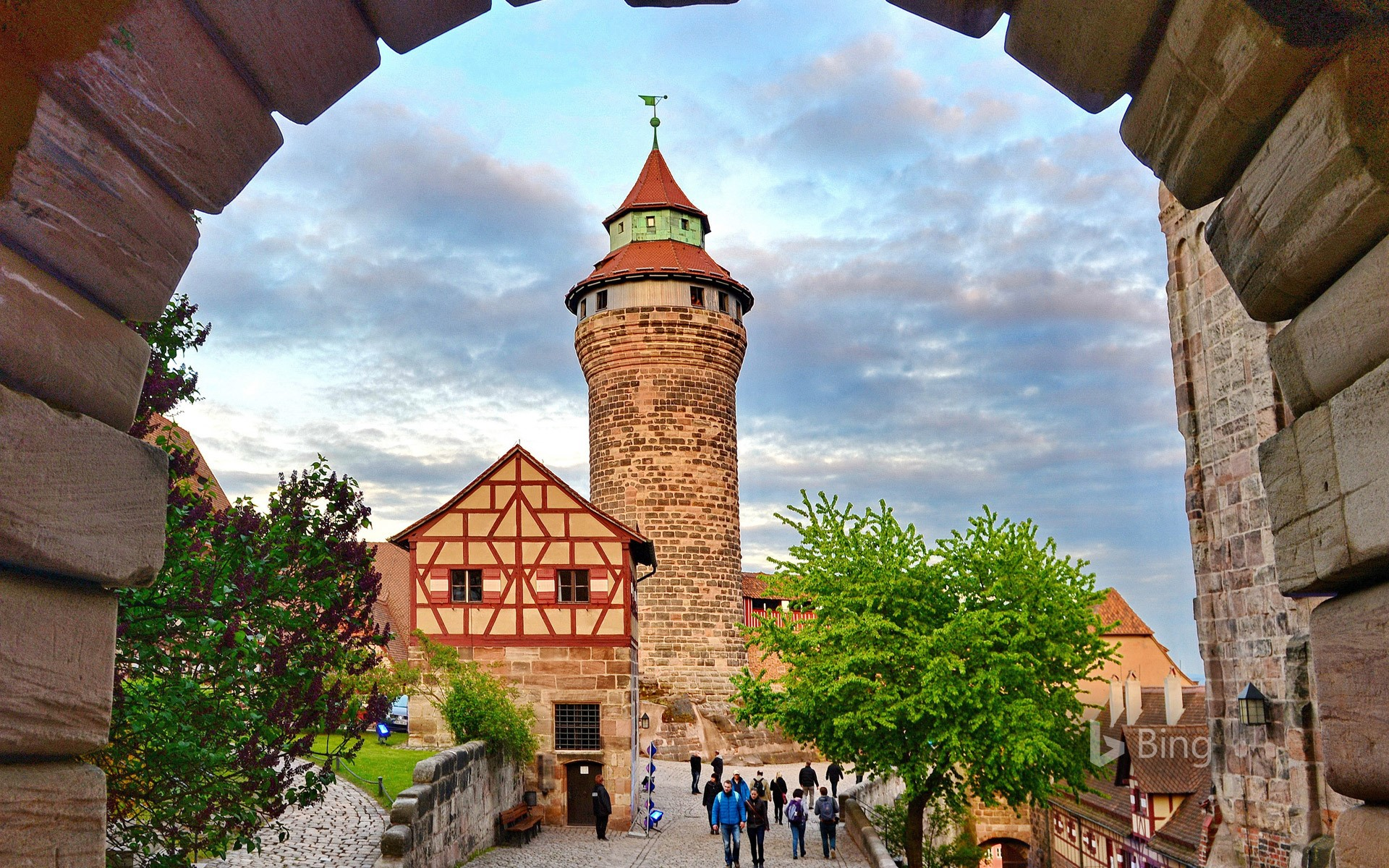Sinwell Tower of the Imperial Castle, Nuremberg, Bavaria