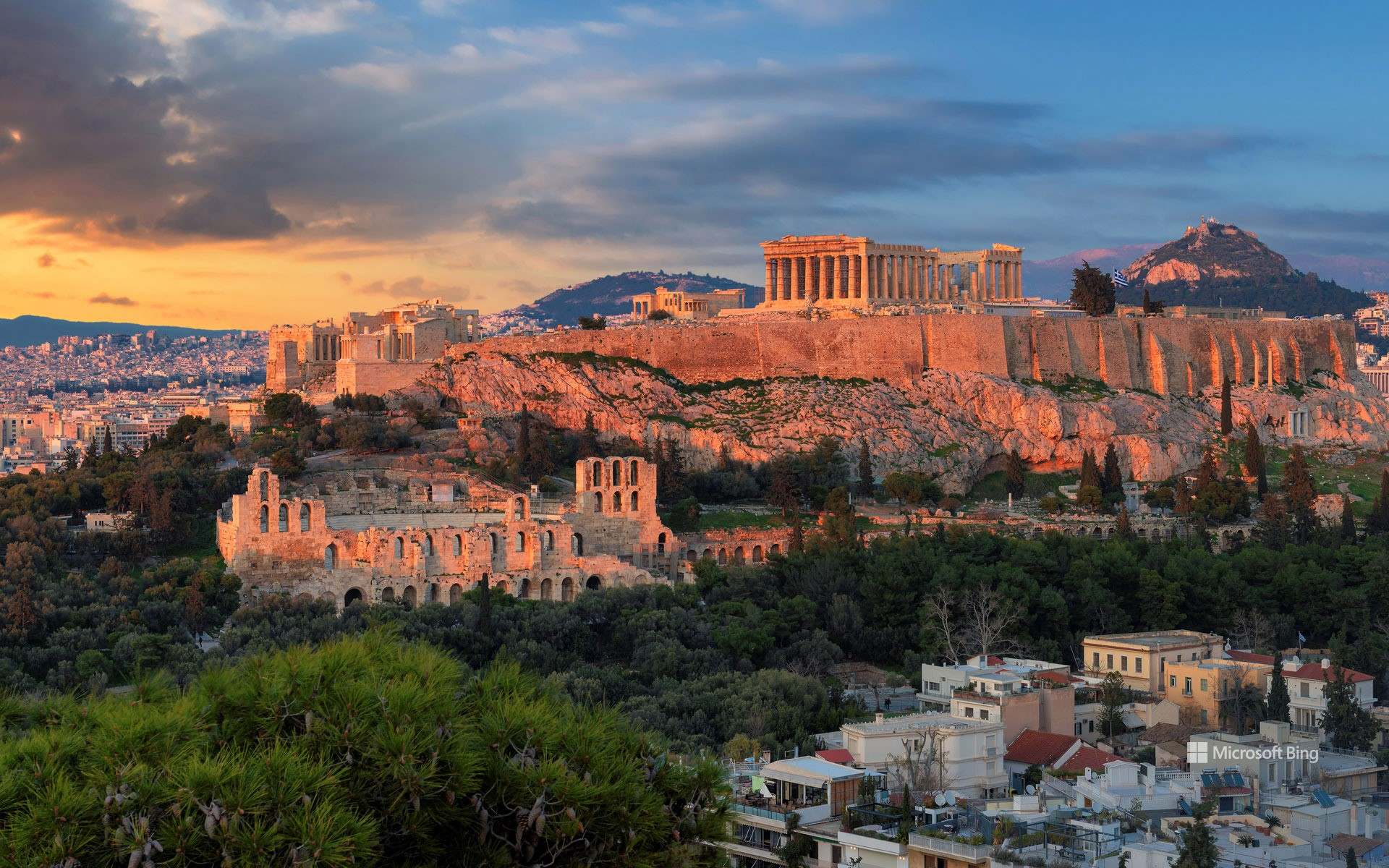Parthenon temple, Acropolis of Athens, Greece
