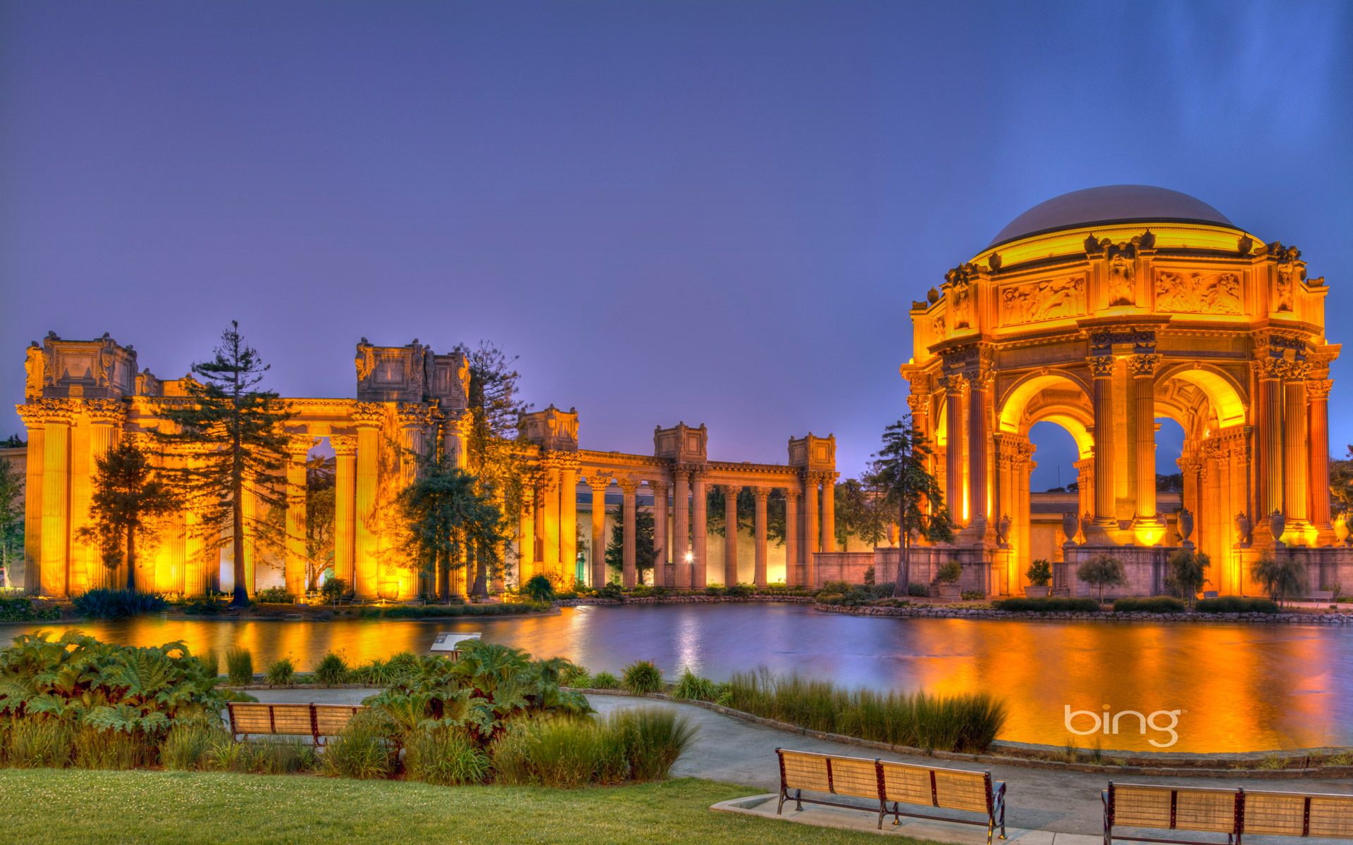 Palace of Fine Arts in the Marina District of San Francisco, California