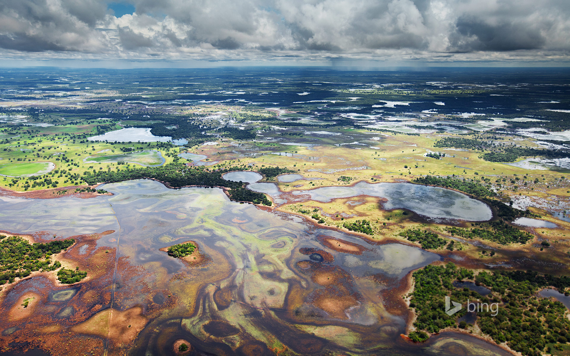 Flood plains in the Pantanal, Brazil
