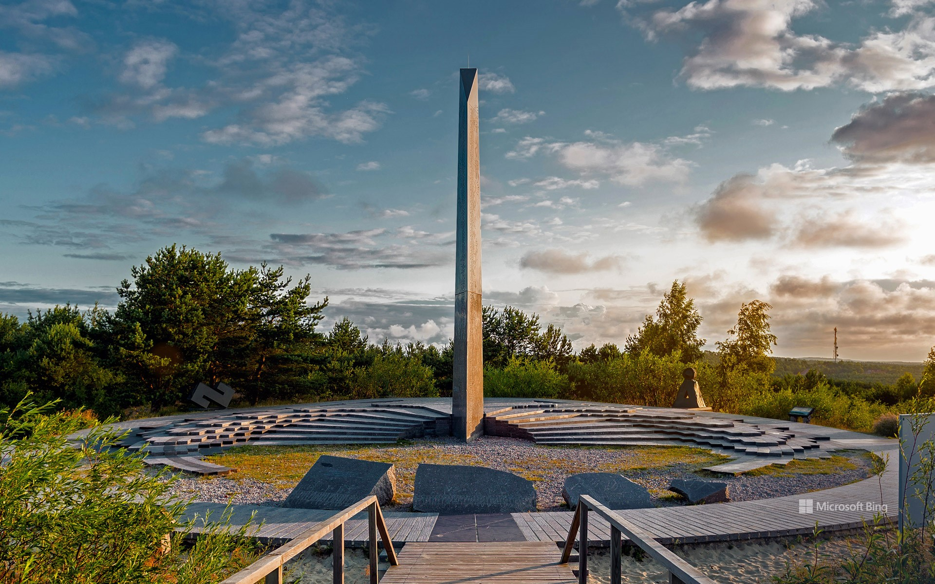 Sundial on Parnidis Dune, Curonian Spit, Lithuania
